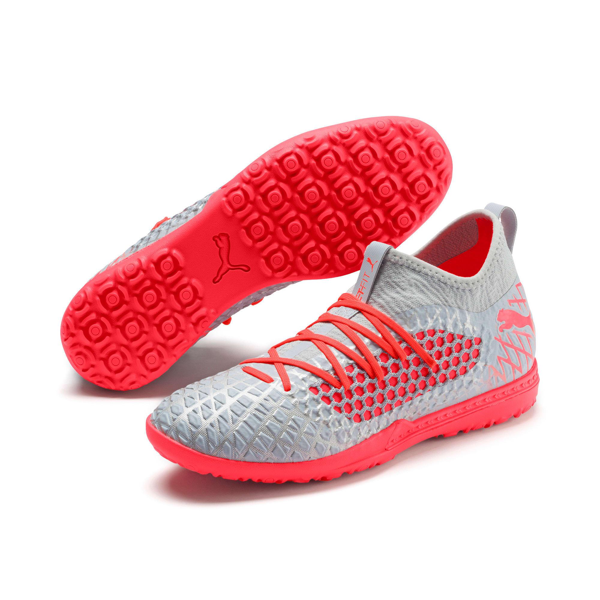 Thumbnail 3 of FUTURE 4.3 NETFIT TT Men's Soccer Shoes, Glacial Blue-Nrgy Red, medium