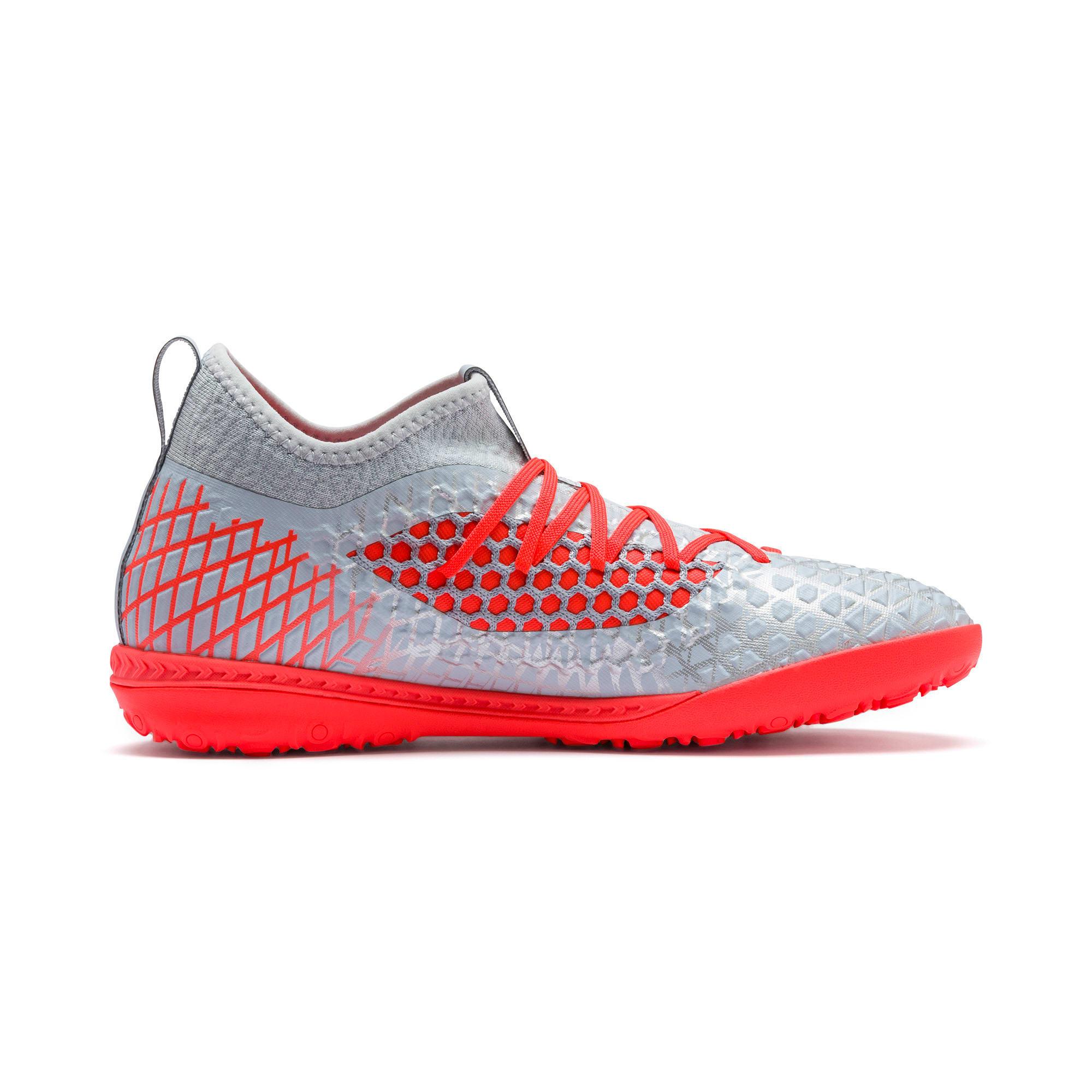 Thumbnail 6 of FUTURE 4.3 NETFIT TT Men's Soccer Shoes, Glacial Blue-Nrgy Red, medium