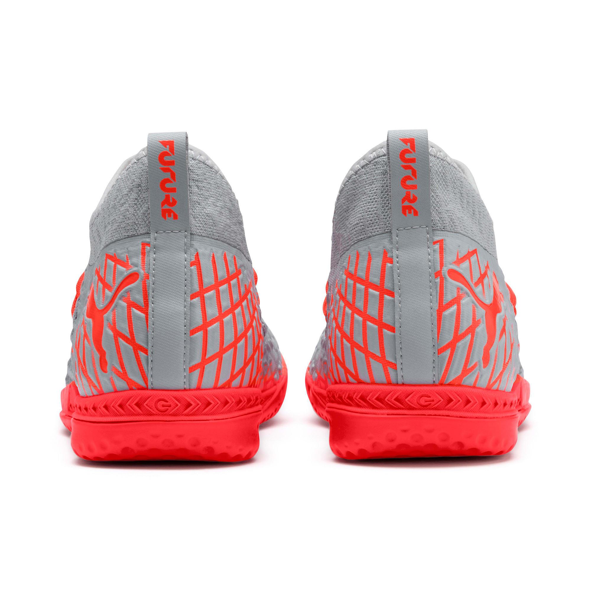 Thumbnail 4 of FUTURE 4.3 NETFIT IT Men's Soccer Shoes, Glacial Blue-Nrgy Red, medium