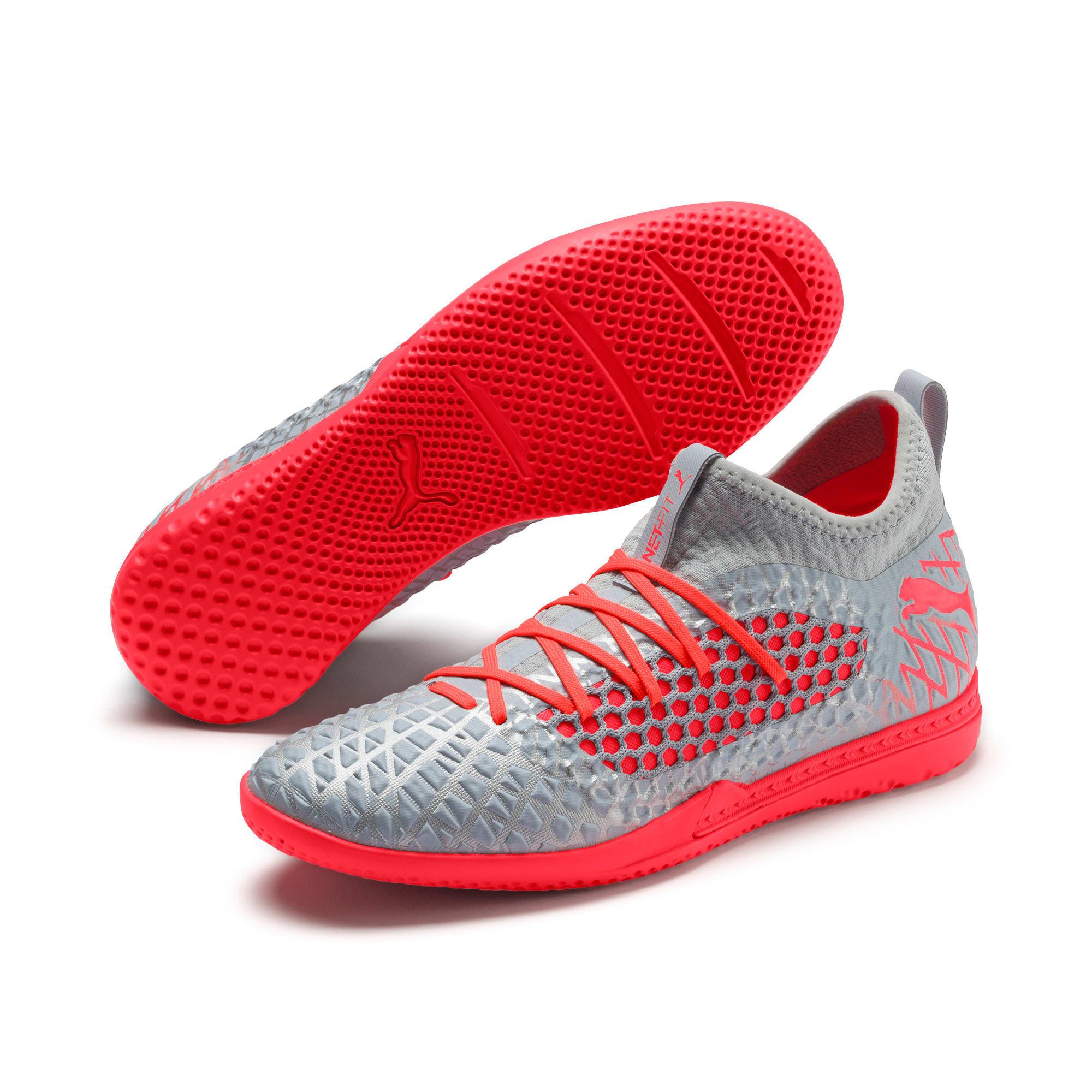 Thumbnail 3 of FUTURE 4.3 NETFIT IT Men's Soccer Shoes, Glacial Blue-Nrgy Red, medium
