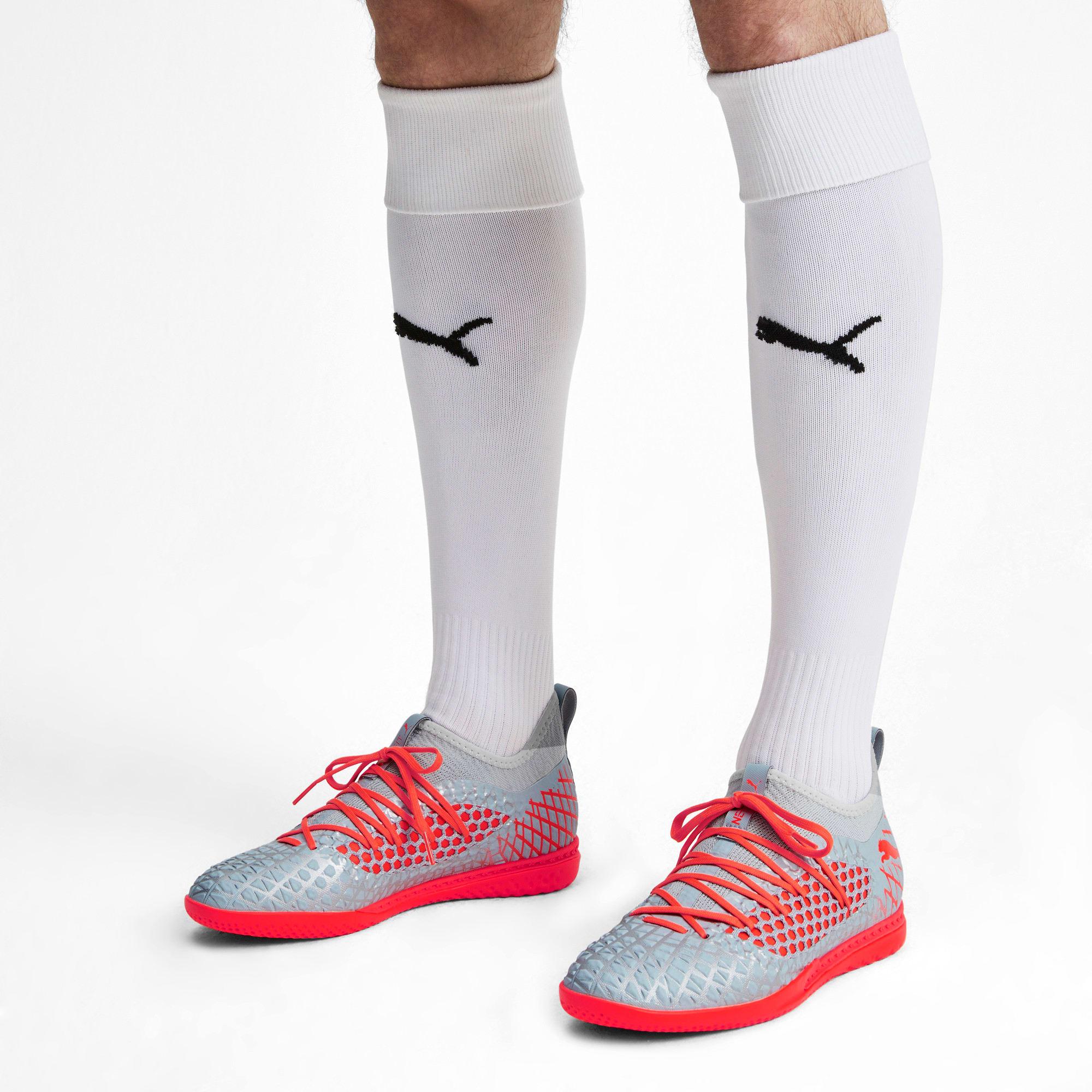 Thumbnail 2 of FUTURE 4.3 NETFIT IT Men's Soccer Shoes, Glacial Blue-Nrgy Red, medium