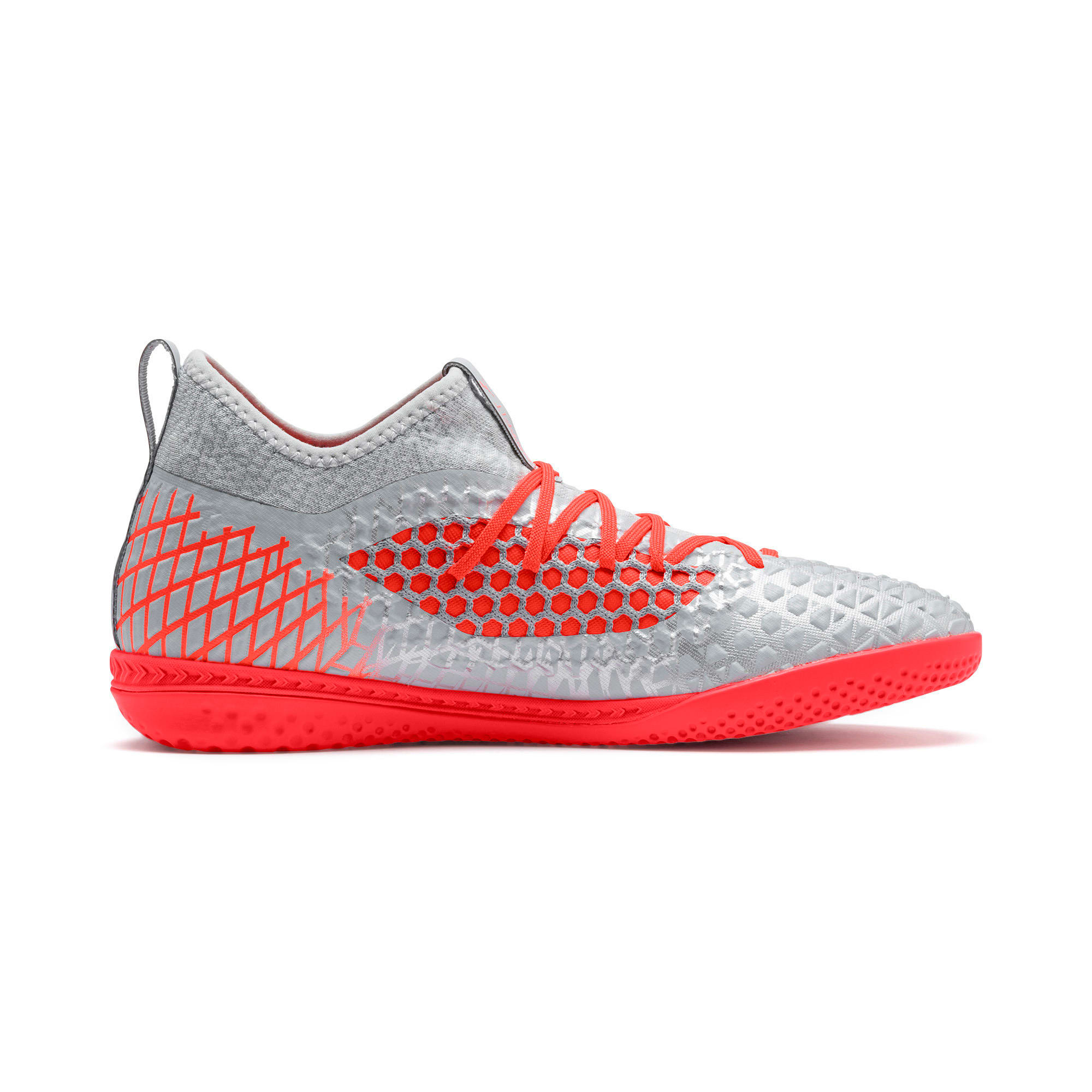 Thumbnail 6 of FUTURE 4.3 NETFIT IT Men's Soccer Shoes, Glacial Blue-Nrgy Red, medium