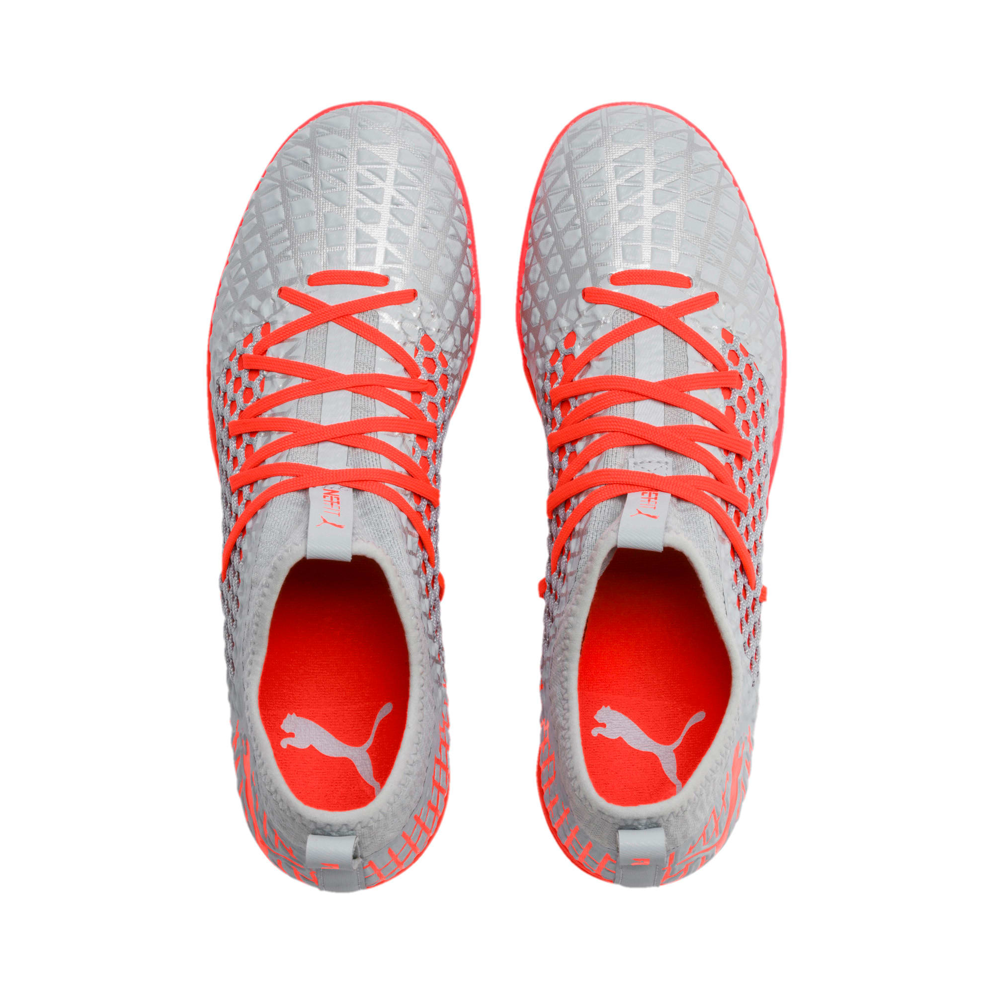 Thumbnail 7 of FUTURE 4.3 NETFIT IT Men's Soccer Shoes, Glacial Blue-Nrgy Red, medium