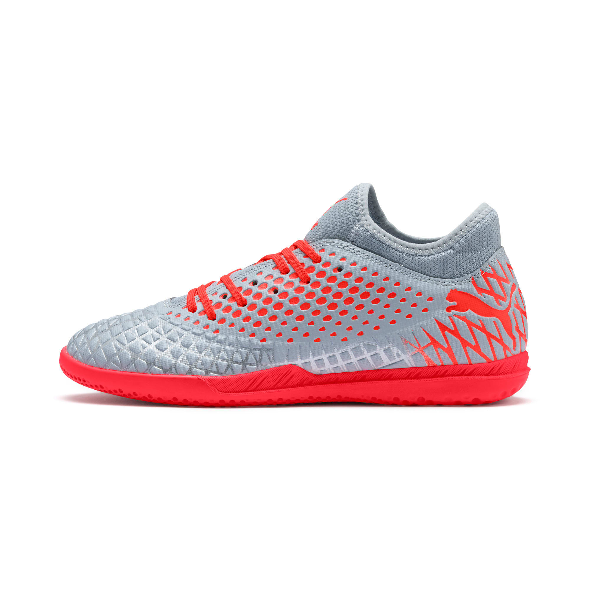 Thumbnail 1 van FUTURE 4.4 IT voetbalschoenen voor heren, Glacial Blue-Nrgy Red, medium