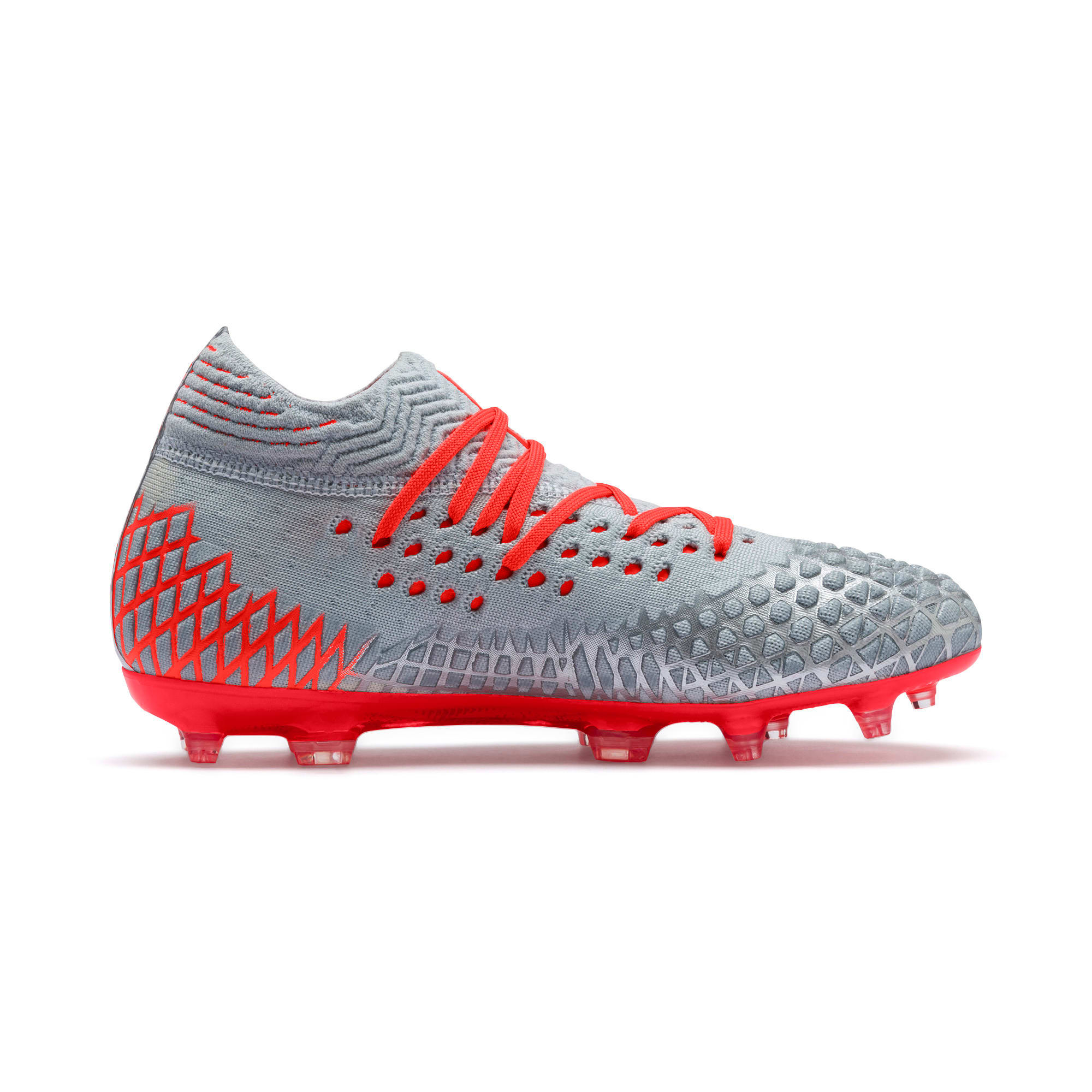 Thumbnail 5 of FUTURE 4.1 NETFIT Youth Football Boots, Blue-Nrgy Red-High Risk Red, medium