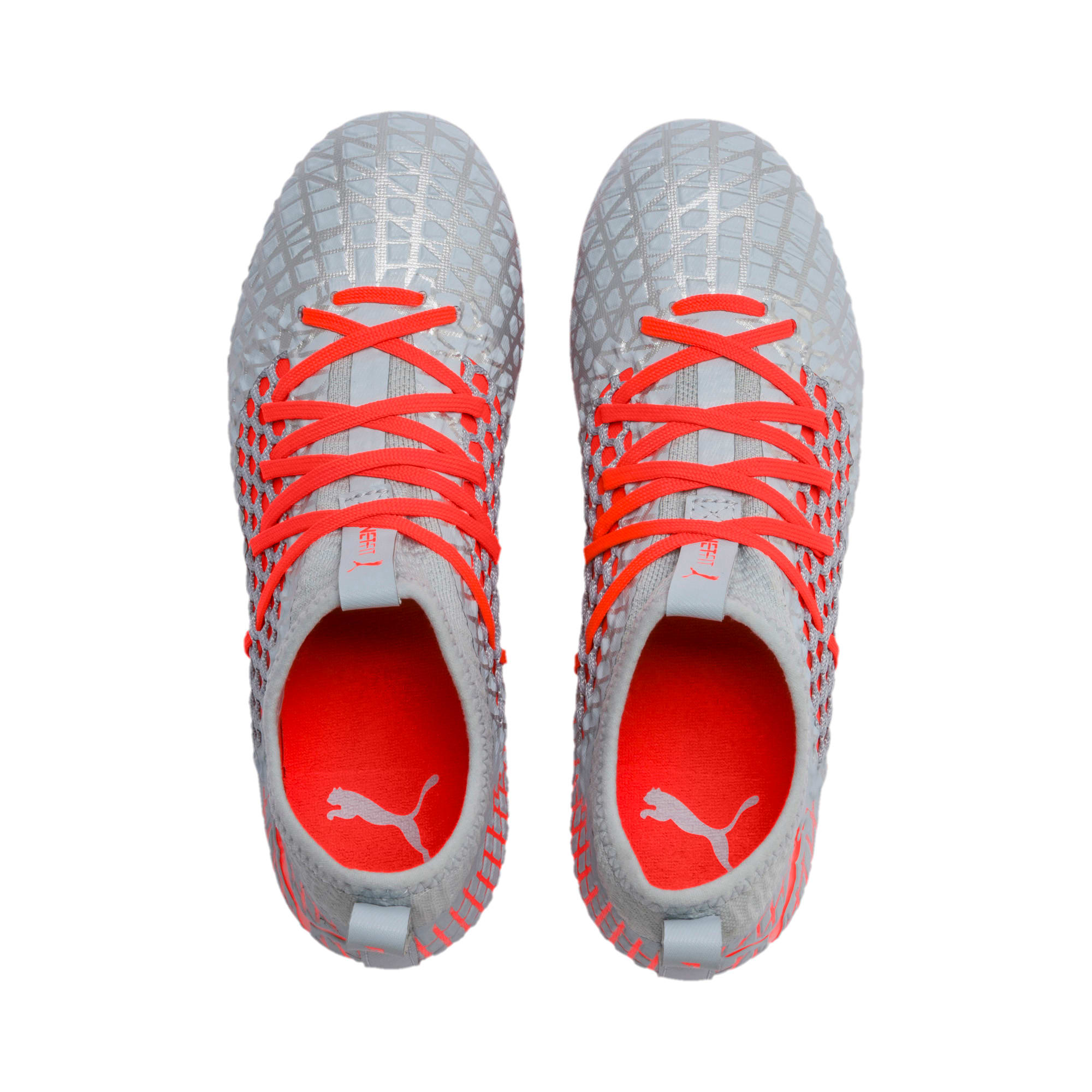 Thumbnail 6 of FUTURE 4.3 NETFIT Youth FG/AG Football Boots, Glacial Blue-Nrgy Red, medium