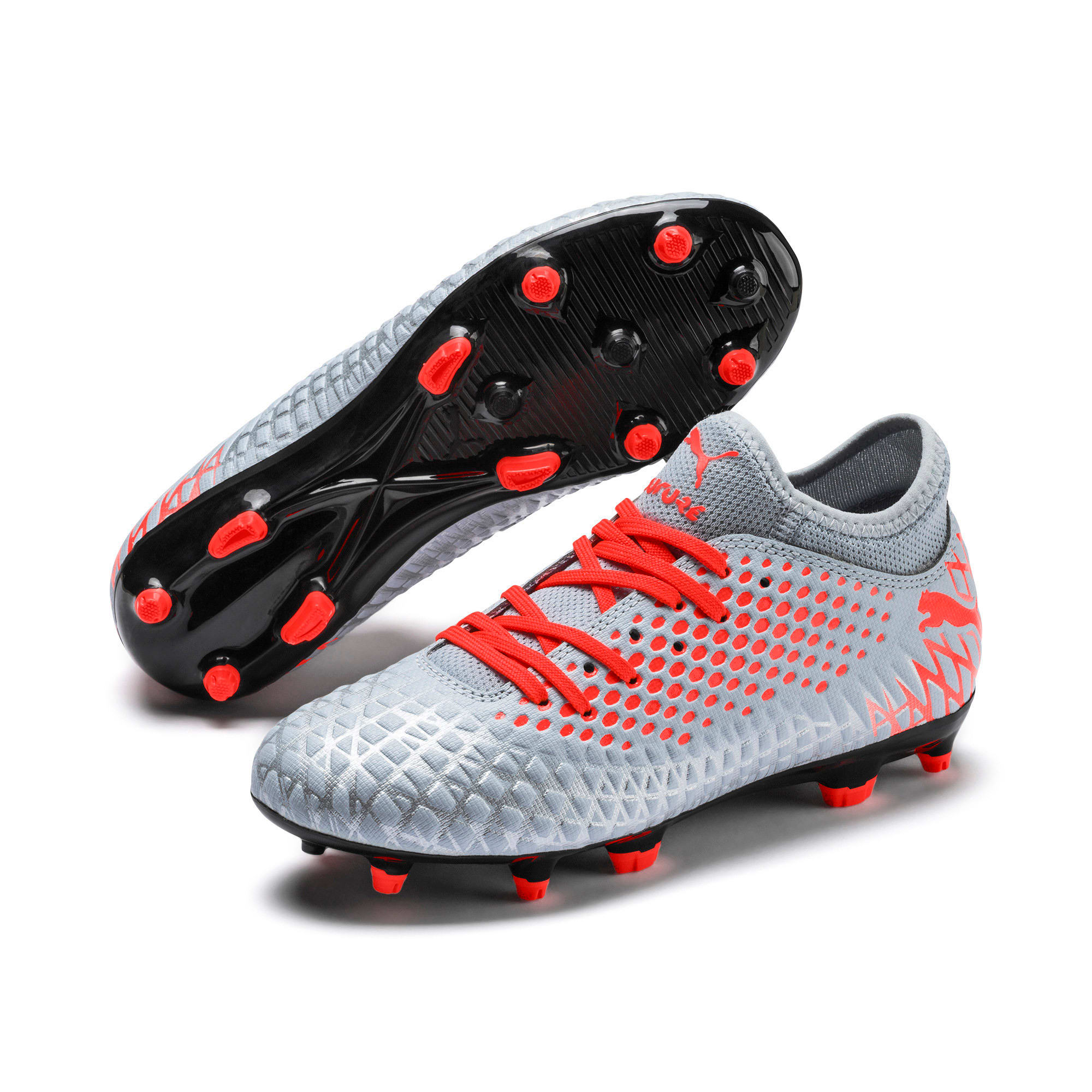 Thumbnail 2 of FUTURE 4.4 FG/AG Soccer Cleats JR, Glacial Blue-Nrgy Red, medium