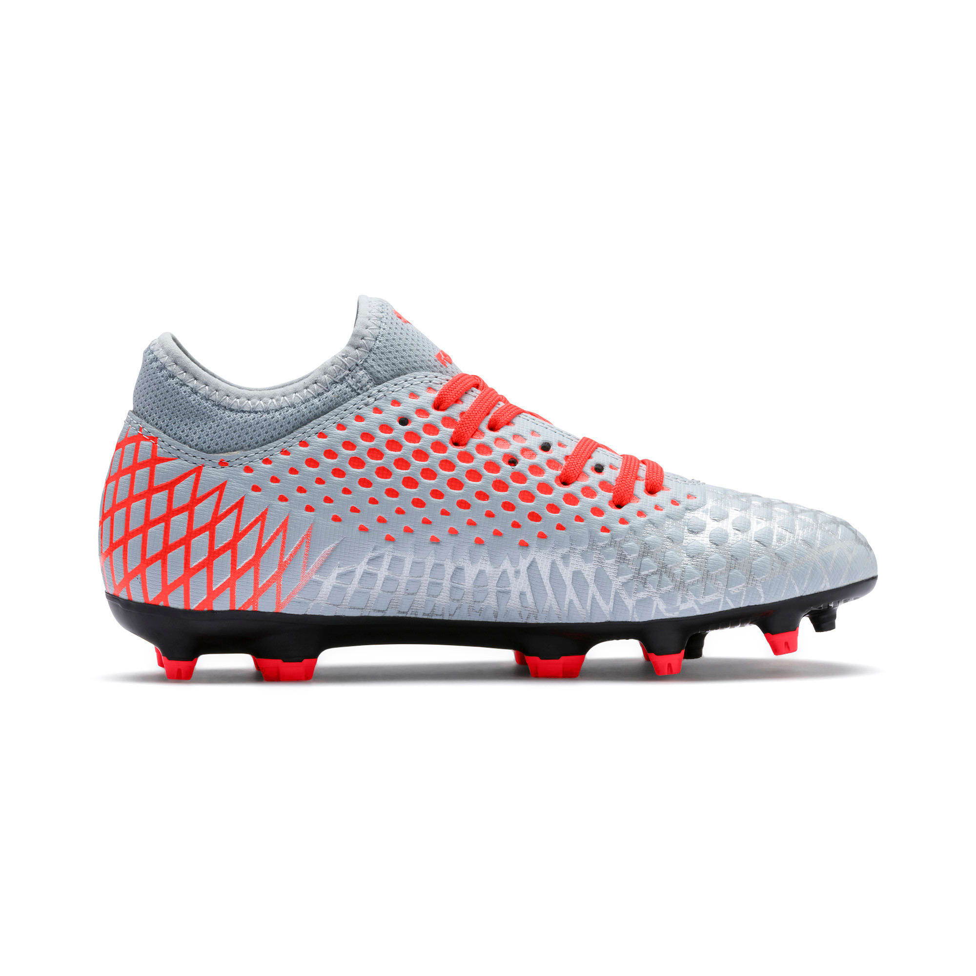 Thumbnail 5 of FUTURE 4.4 Youth Football Boots, Glacial Blue-Nrgy Red, medium