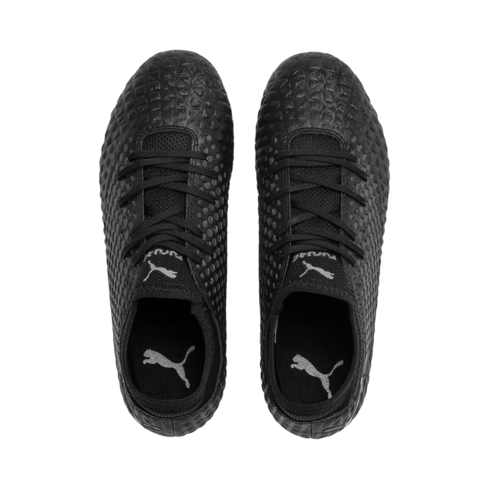Thumbnail 6 of FUTURE 4.4 FG/AG Youth Fußballschuhe, Black-Black-Puma Aged Silver, medium