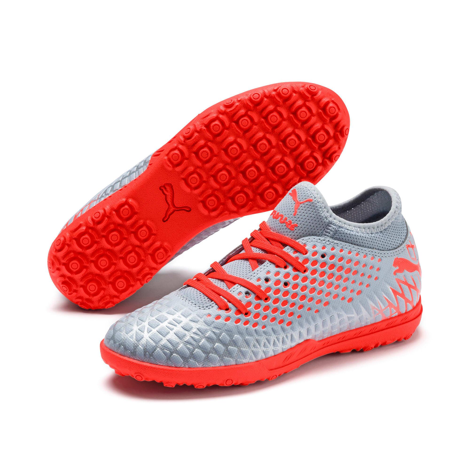 Thumbnail 2 of FUTURE 4.4 TT Soccer Shoes JR, Glacial Blue-Nrgy Red, medium
