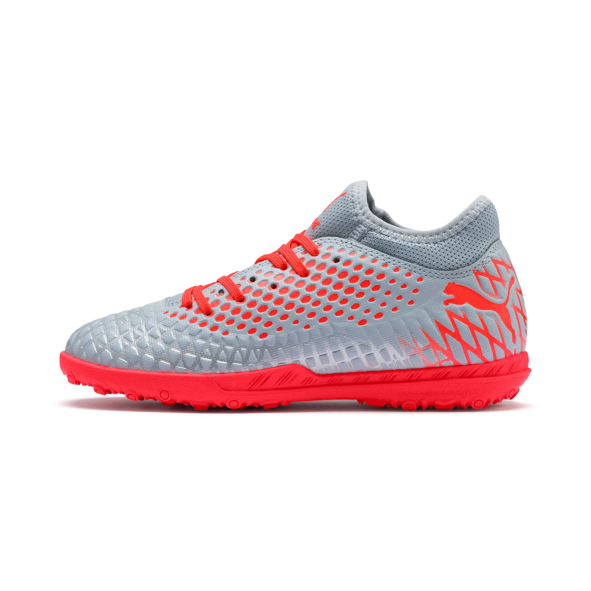 Thumbnail 1 of FUTURE 4.4 TT Soccer Shoes JR, Glacial Blue-Nrgy Red, medium
