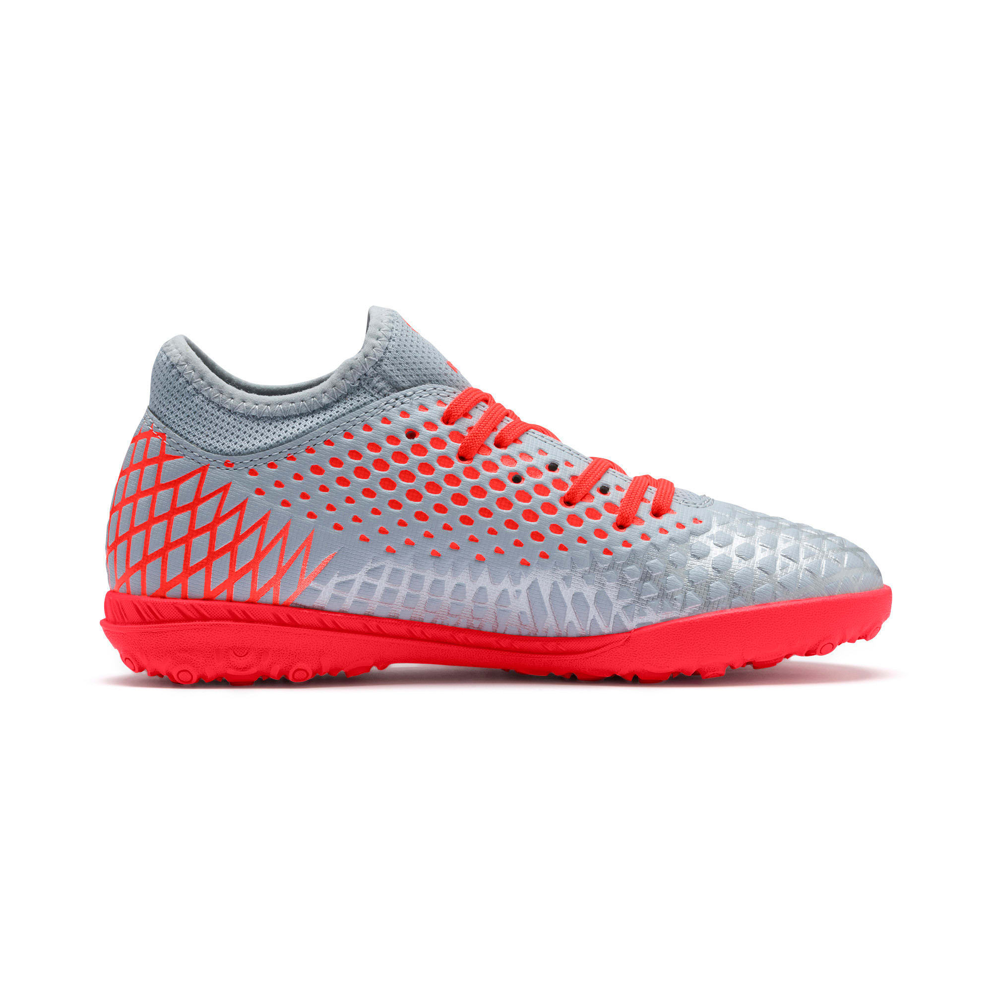 Thumbnail 5 of FUTURE 4.4 TT Soccer Shoes JR, Glacial Blue-Nrgy Red, medium