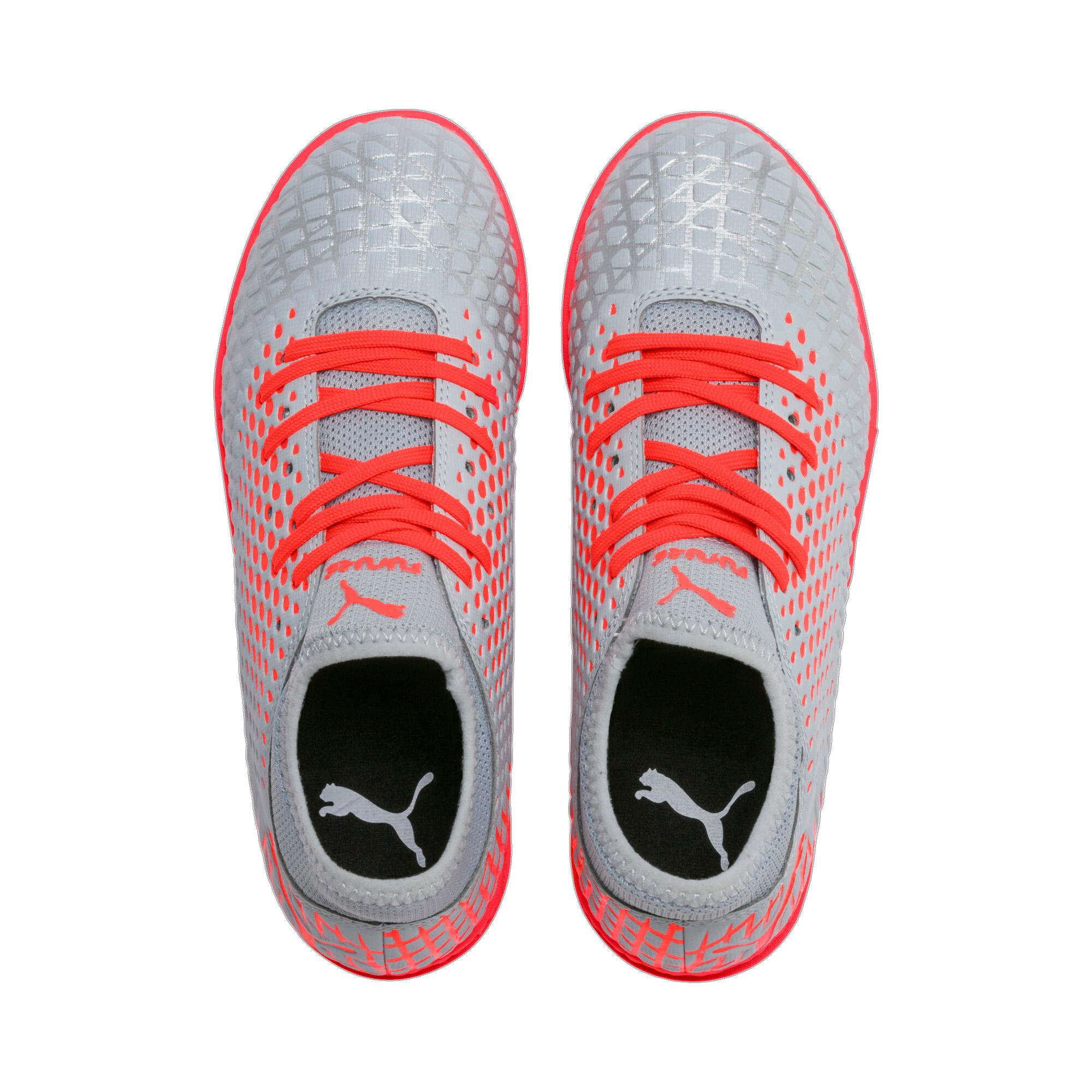 Thumbnail 6 of FUTURE 4.4 TT Soccer Shoes JR, Glacial Blue-Nrgy Red, medium