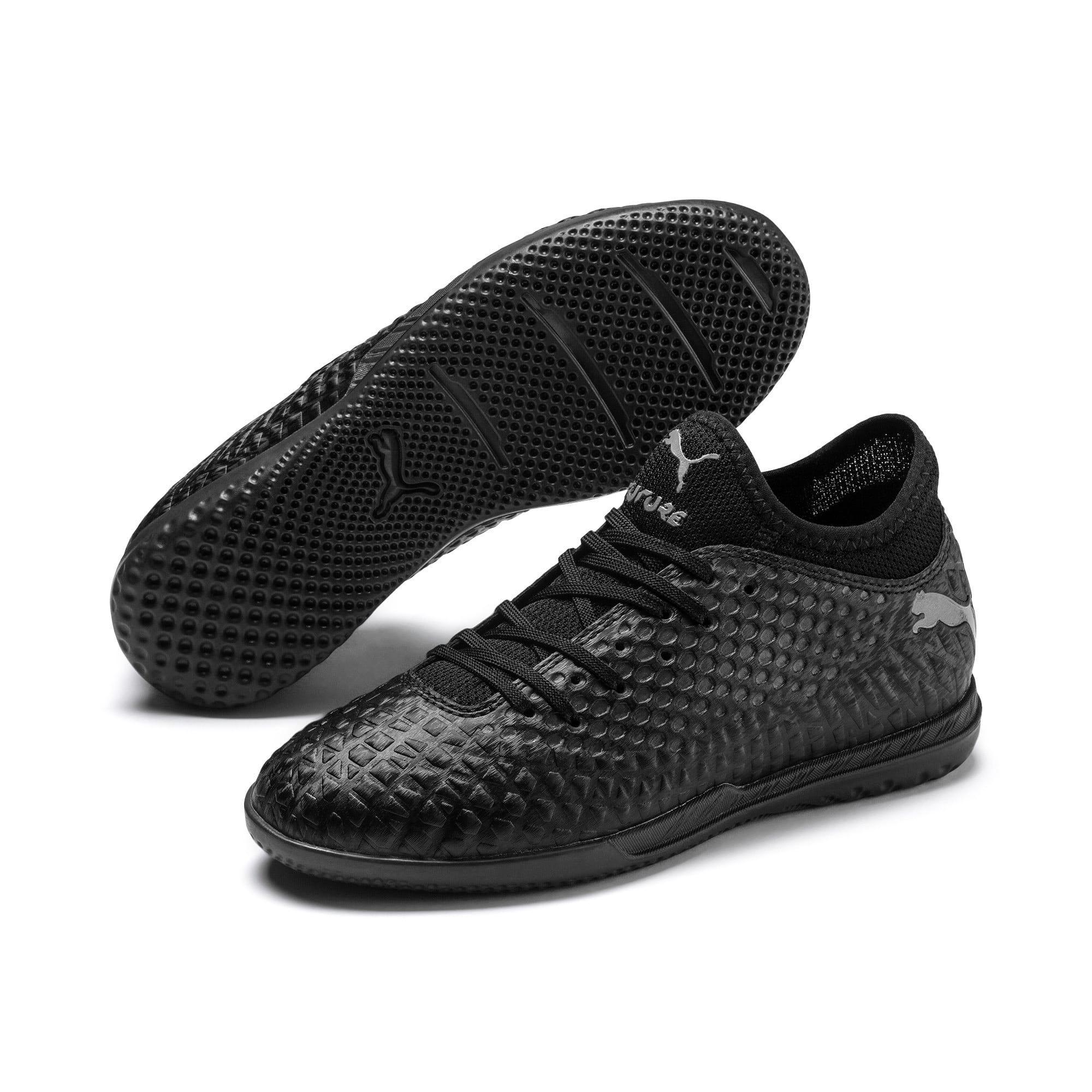 Thumbnail 2 of Chaussure de foot FUTURE 4.4 IT Youth, Black-Black-Puma Aged Silver, medium