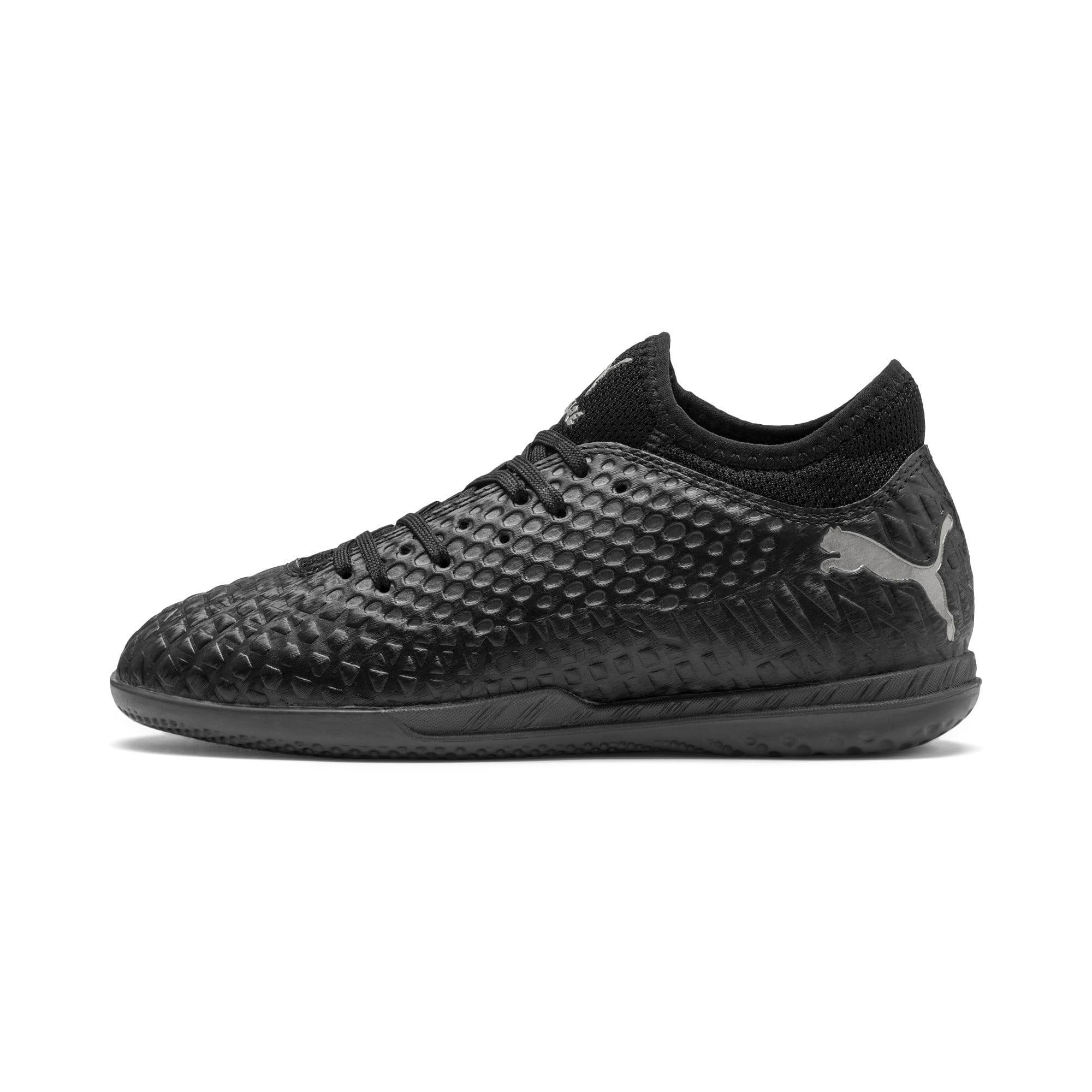 Thumbnail 1 of Chaussure de foot FUTURE 4.4 IT Youth, Black-Black-Puma Aged Silver, medium