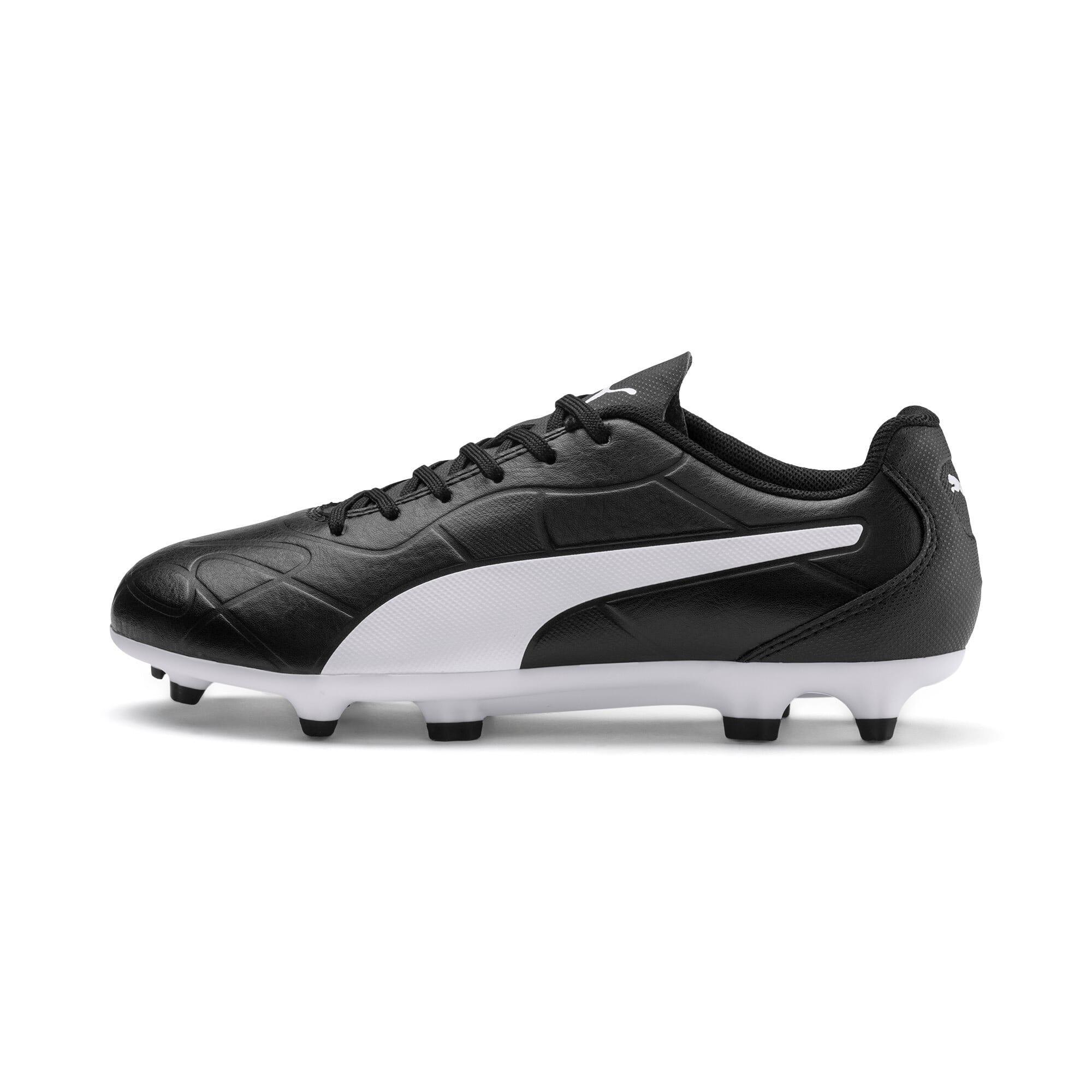 Thumbnail 1 of Monarch FG Youth Football Boots, Puma Black-Puma White, medium