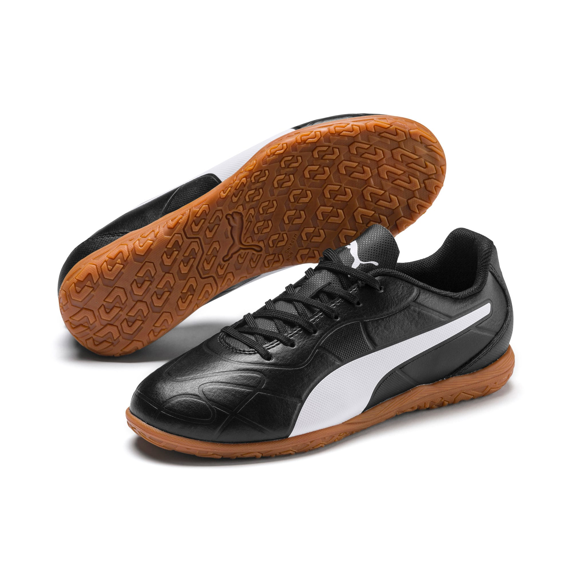 Thumbnail 2 of Monarch IT Youth Football Boot, Puma Black-Puma White, medium