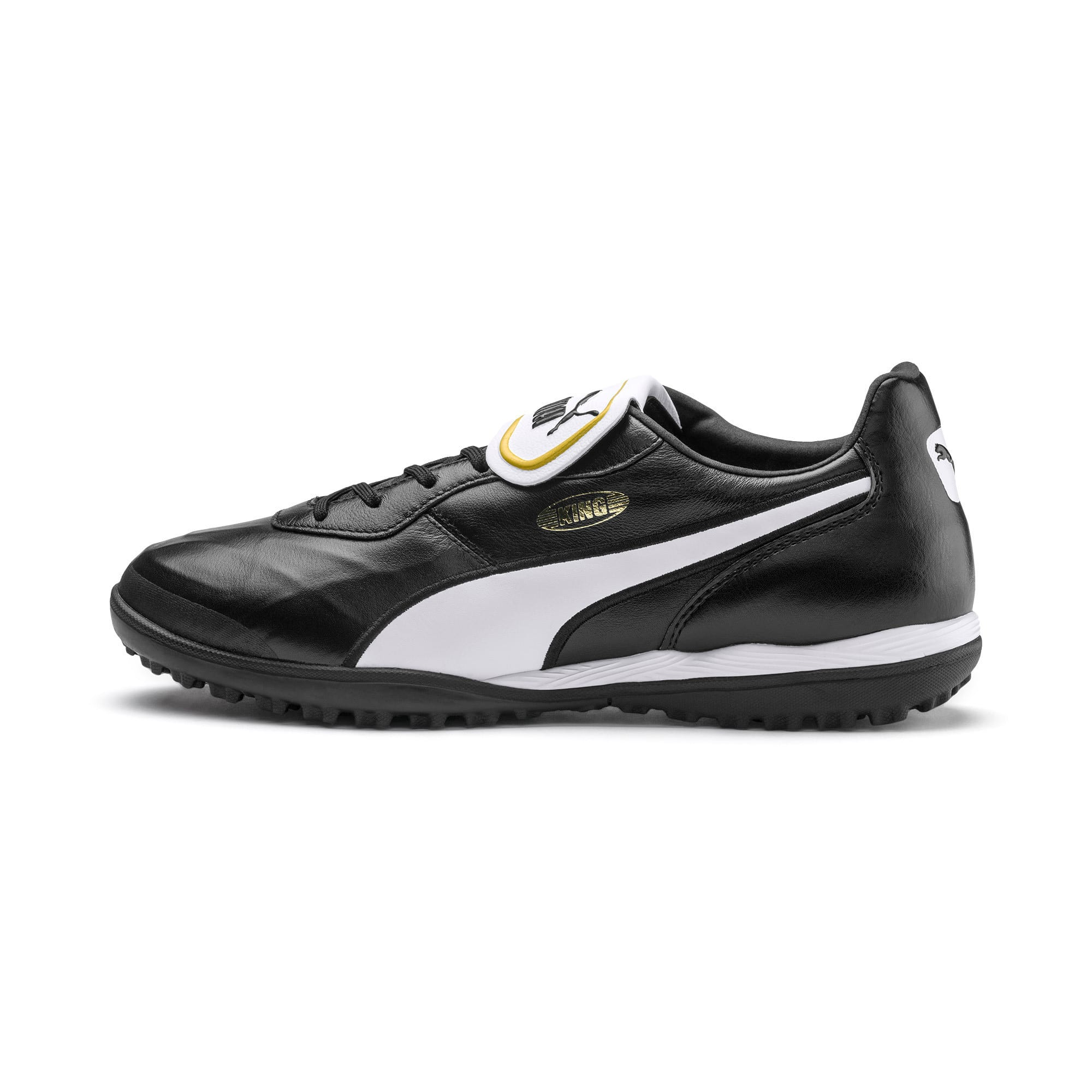 Thumbnail 1 of King Top TT Soccer Shoes, Puma Black-Puma White, medium