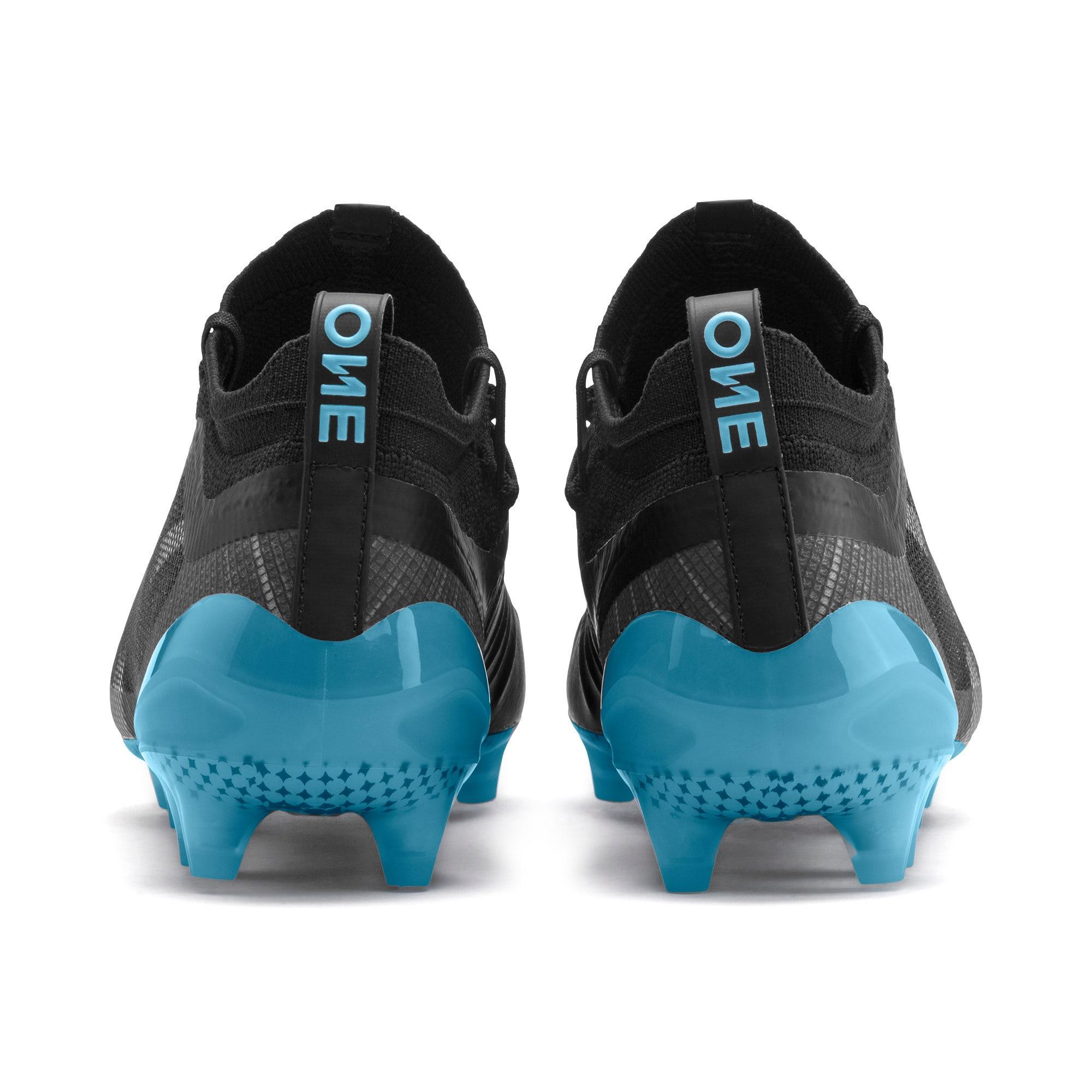 Thumbnail 4 van PUMA ONE 5.1 City voetbalschoenen voor heren, Zwart-hemelsblauw-zilver, medium