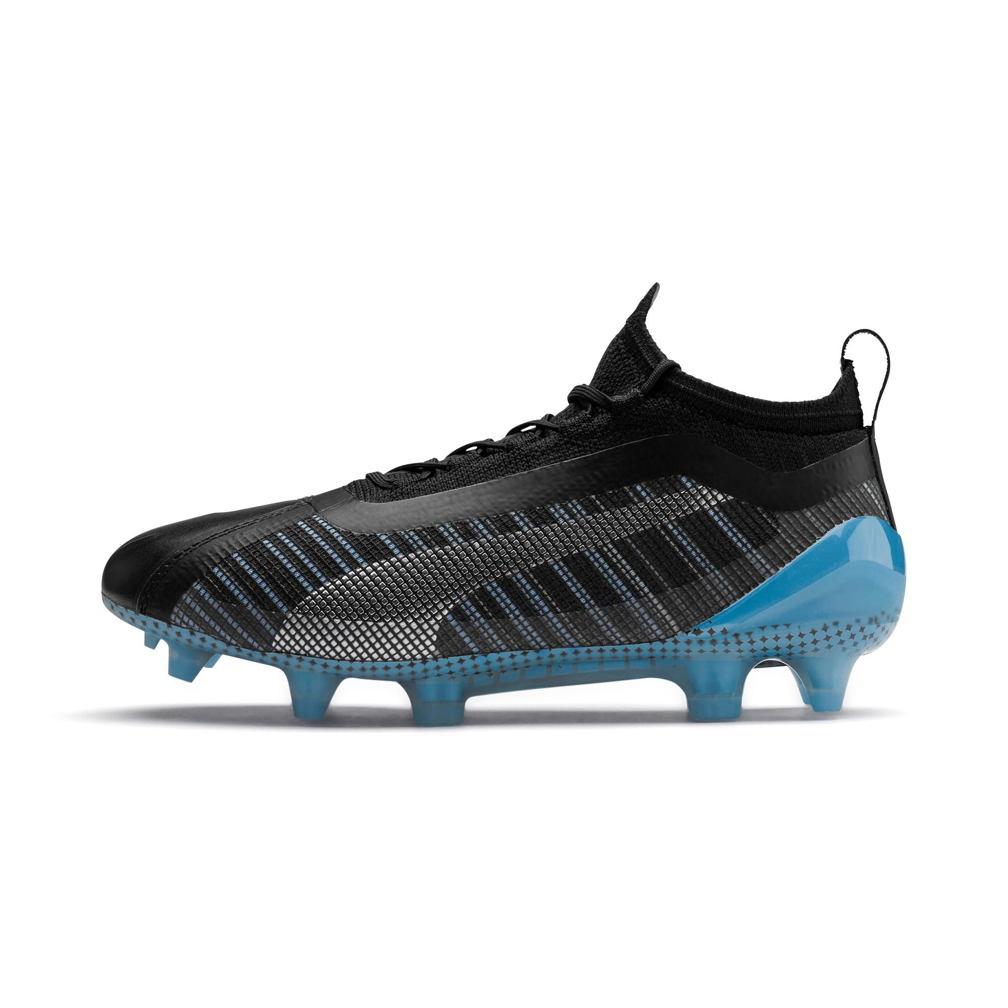 Imagen en miniatura 1 de Botas de fútbol PUMA ONE 5.1 City Youth, Black-Sky Blue-Puma White, mediana