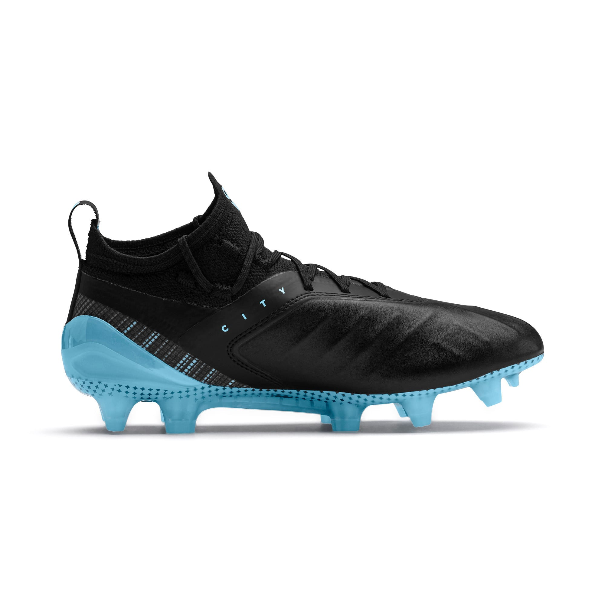 Imagen en miniatura 5 de Botas de fútbol PUMA ONE 5.1 City Youth, Black-Sky Blue-Puma White, mediana