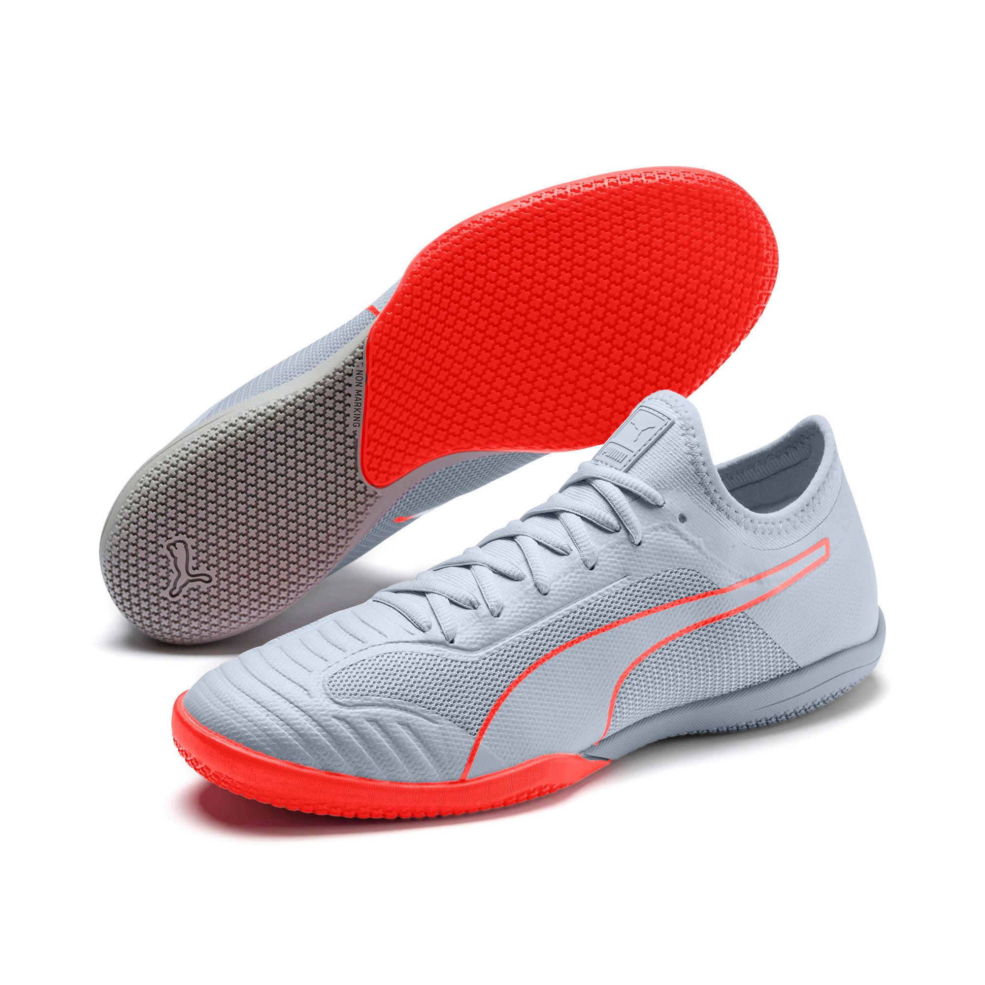 Thumbnail 2 of 365 Sala 1 Men's Soccer Shoes, Grey Dawn-Nrgy Red, medium
