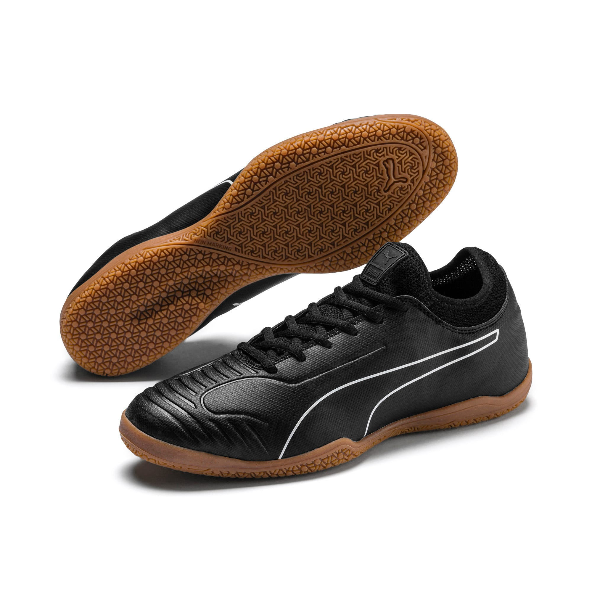 Thumbnail 3 of 365 Sala 2 Men's Soccer Shoes, Puma Black-Puma White-Gum, medium
