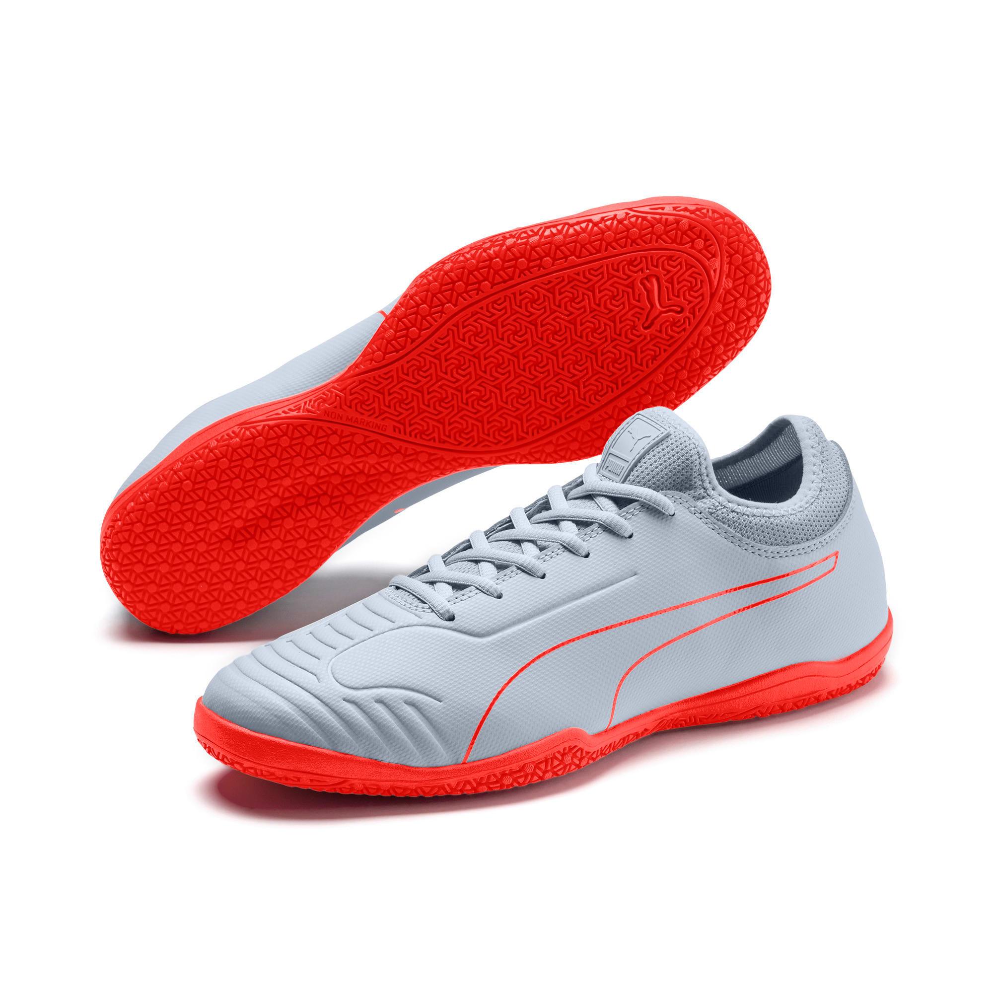 Thumbnail 2 of 365 Sala 2 Men's Soccer Shoes, Grey Dawn-Nrgy Red, medium