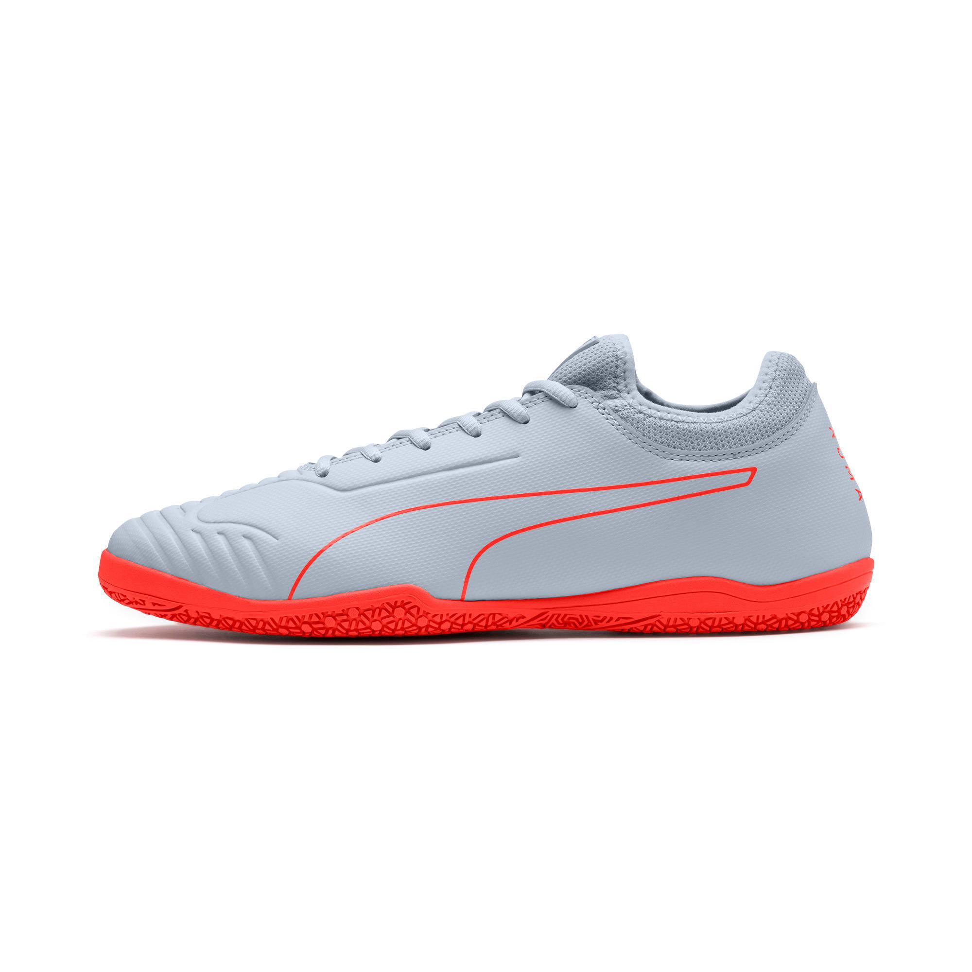 Thumbnail 1 of 365 Sala 2 Men's Soccer Shoes, Grey Dawn-Nrgy Red, medium