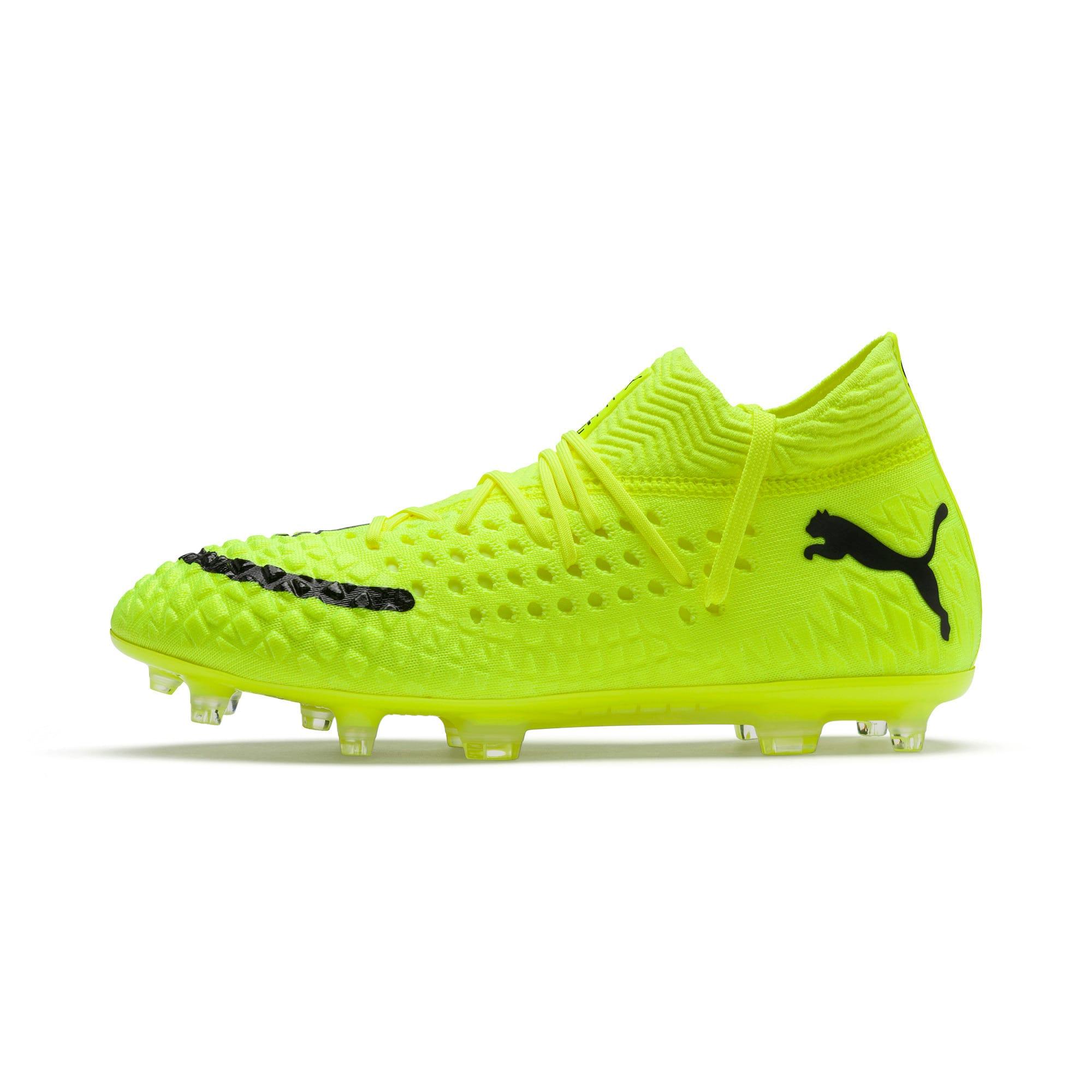 Thumbnail 1 of FUTURE 4.1 NETFIT Griezmann FG/AG Men's Football Boots, Yellow Alert-Puma Black, medium