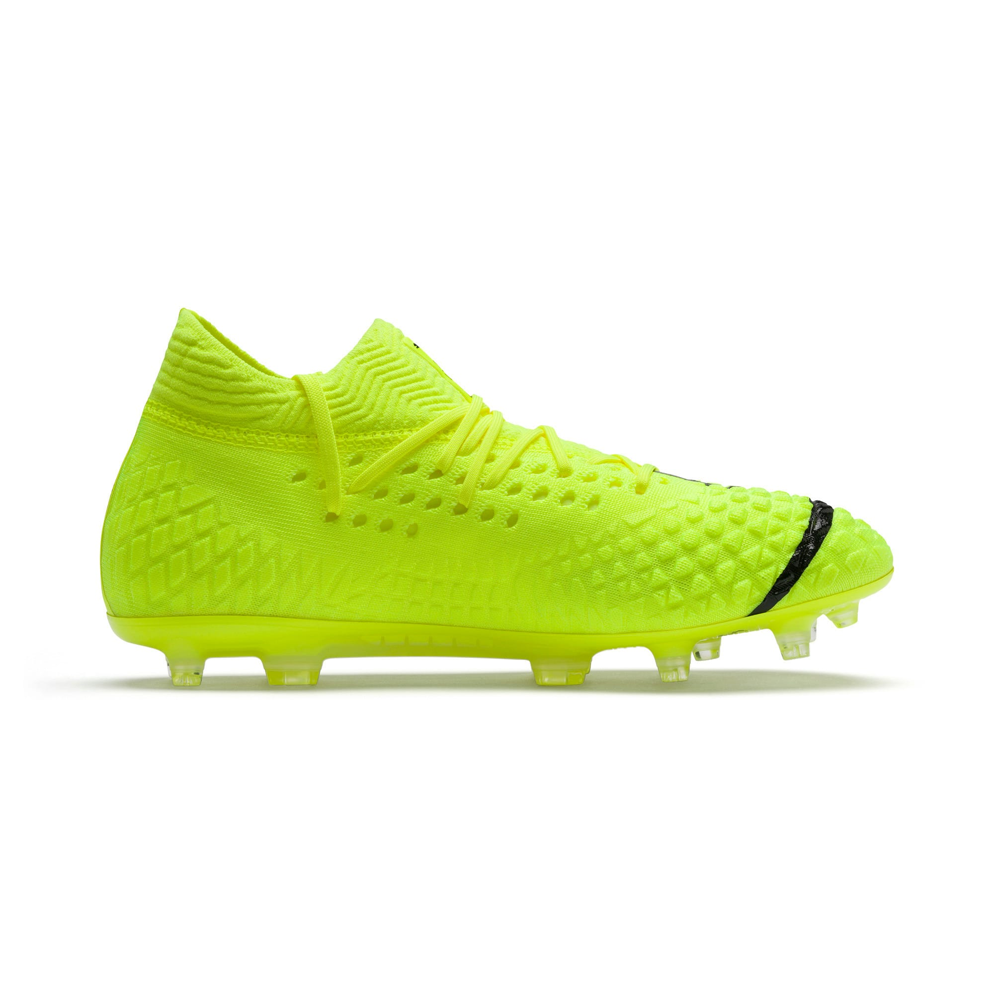 Thumbnail 5 of FUTURE 4.1 NETFIT Griezmann FG/AG Men's Football Boots, Yellow Alert-Puma Black, medium