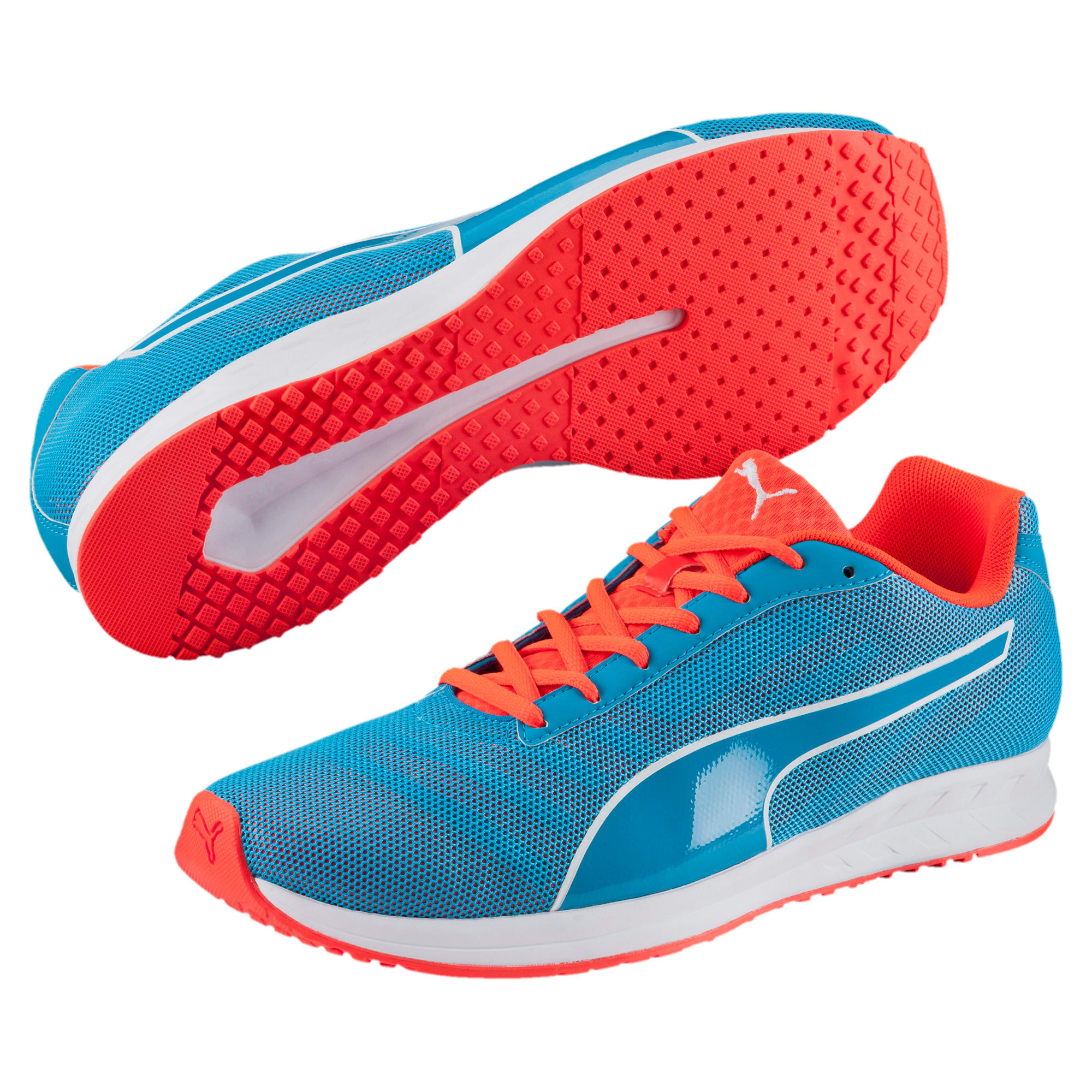 Thumbnail 2 of Burst Running Shoes, atomic blue-red blast, medium-IND