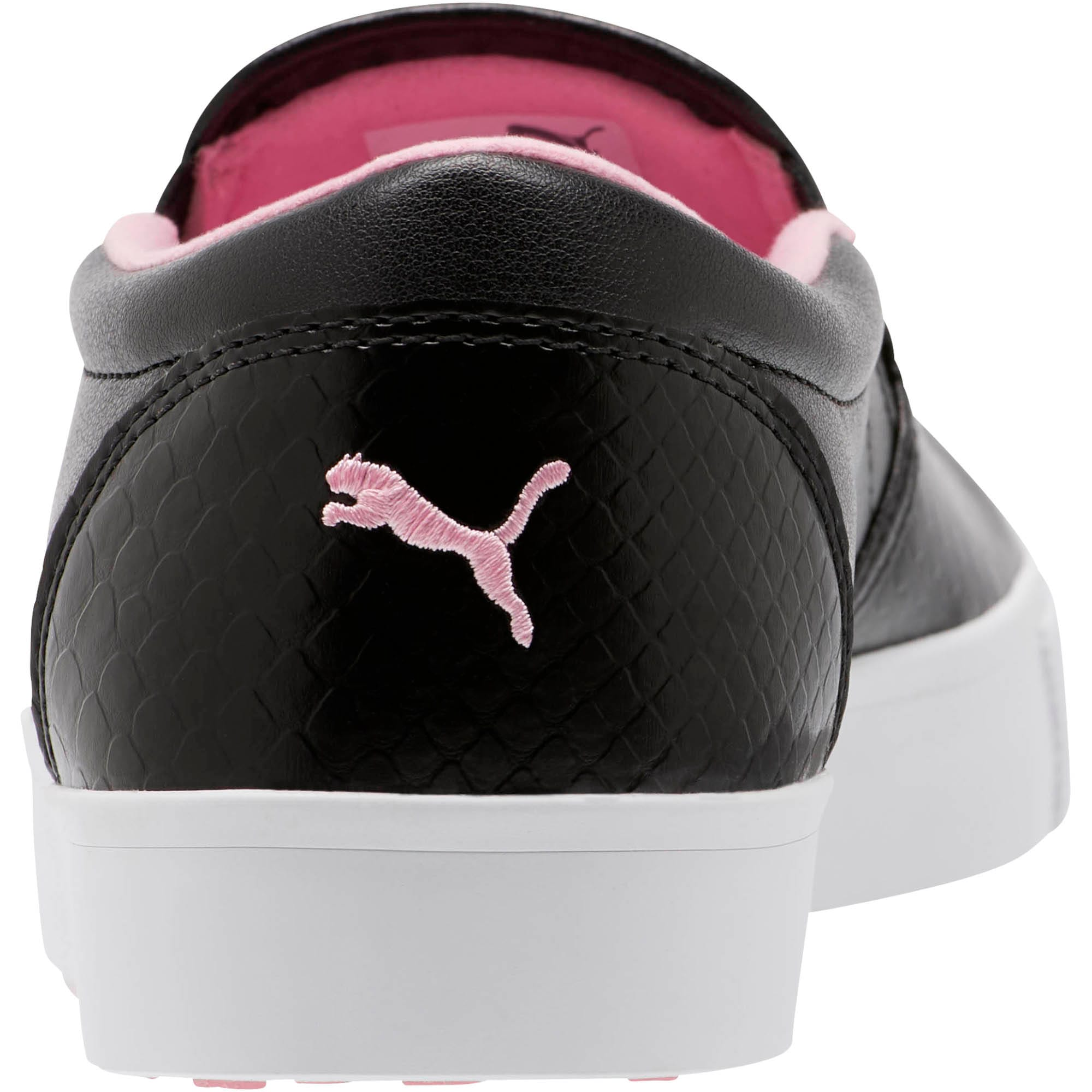 Thumbnail 3 of Tustin Women's Slip-On Golf Shoes, Black-PRISM PINK, medium