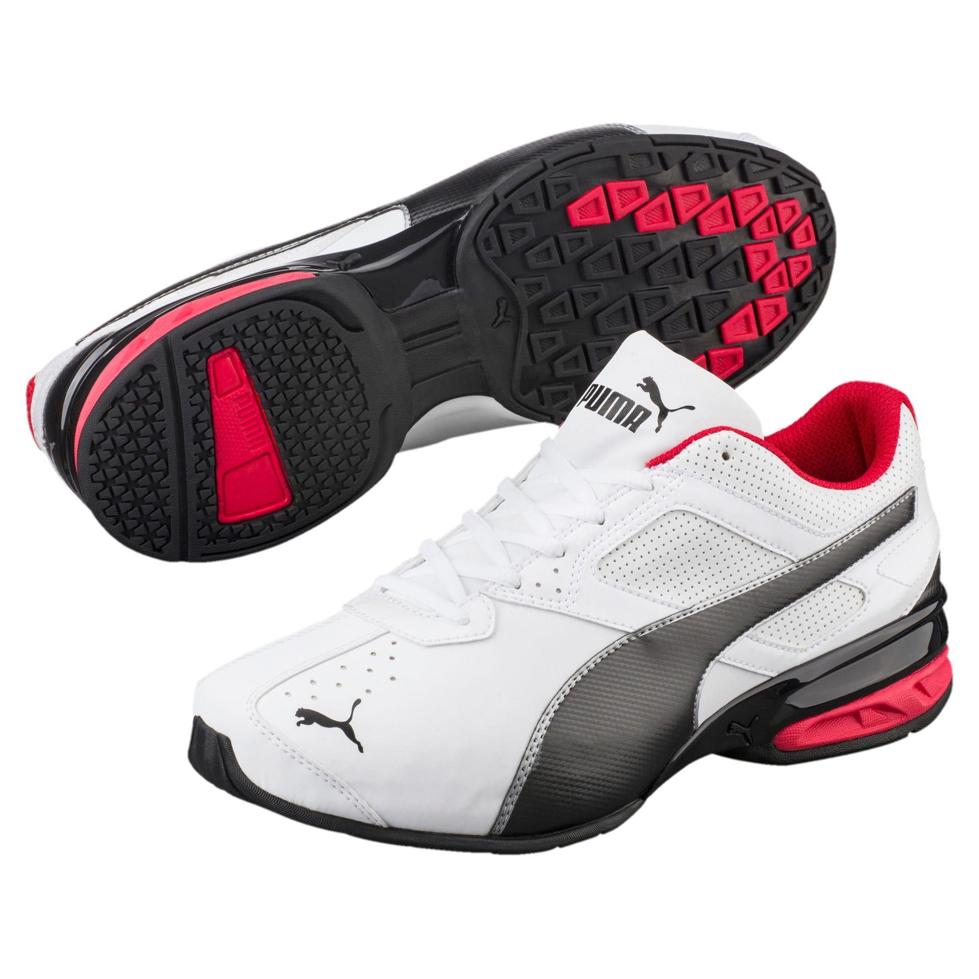 Thumbnail 2 of Tazon 6 FM Wide Men's Sneakers, White-Black-puma silver, medium