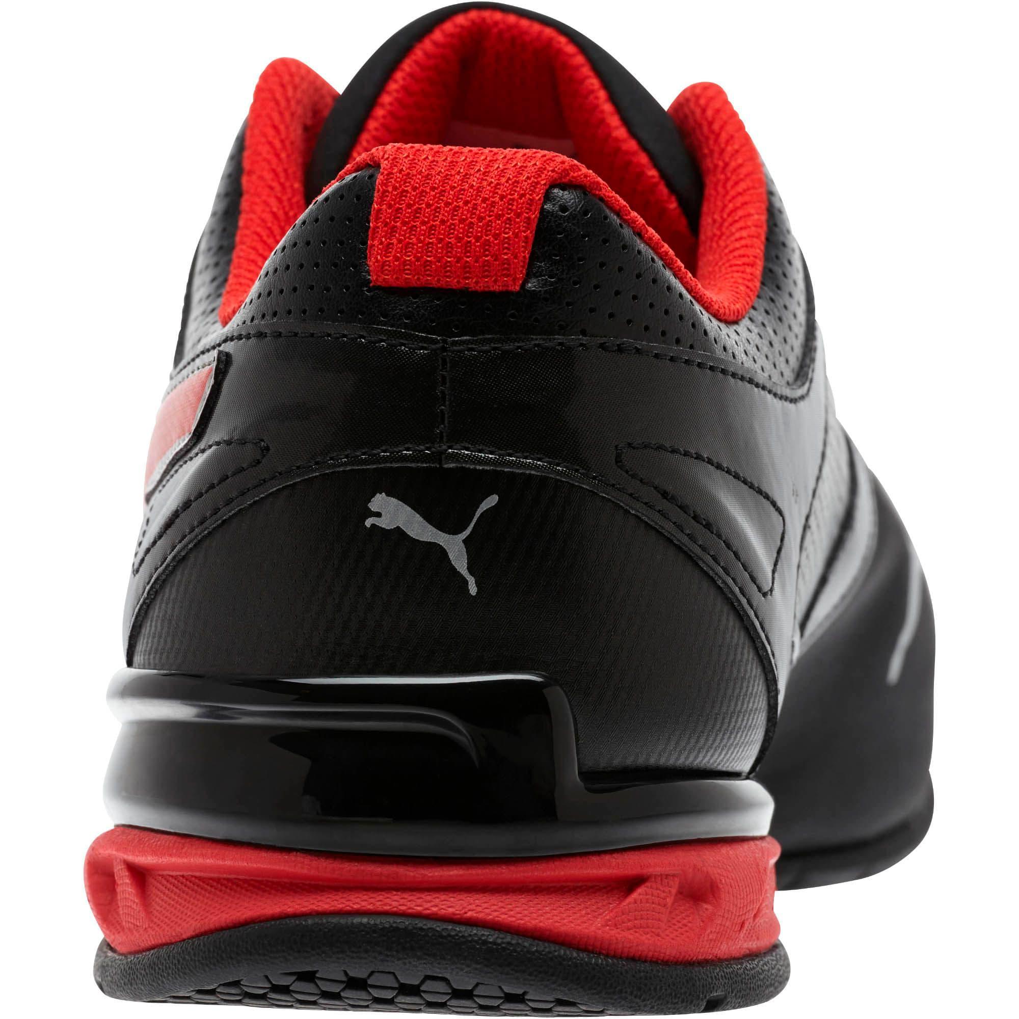 Thumbnail 3 of Tazon 6 FM Wide Men's Sneakers, Black-Red-Silver, medium