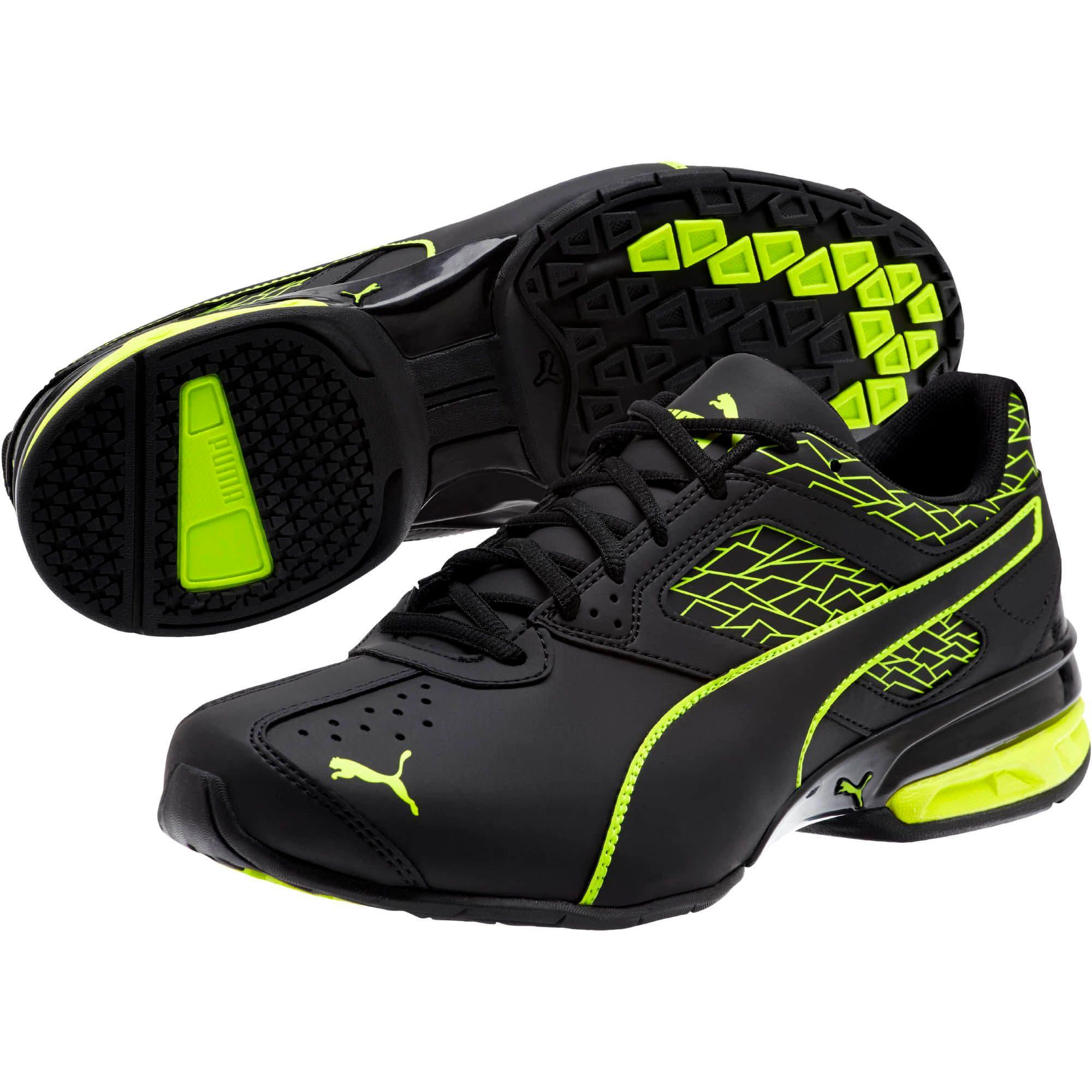 Thumbnail 2 of Tazon 6 Fracture FM Men's Sneakers, Puma Black-Safety Yellow, medium
