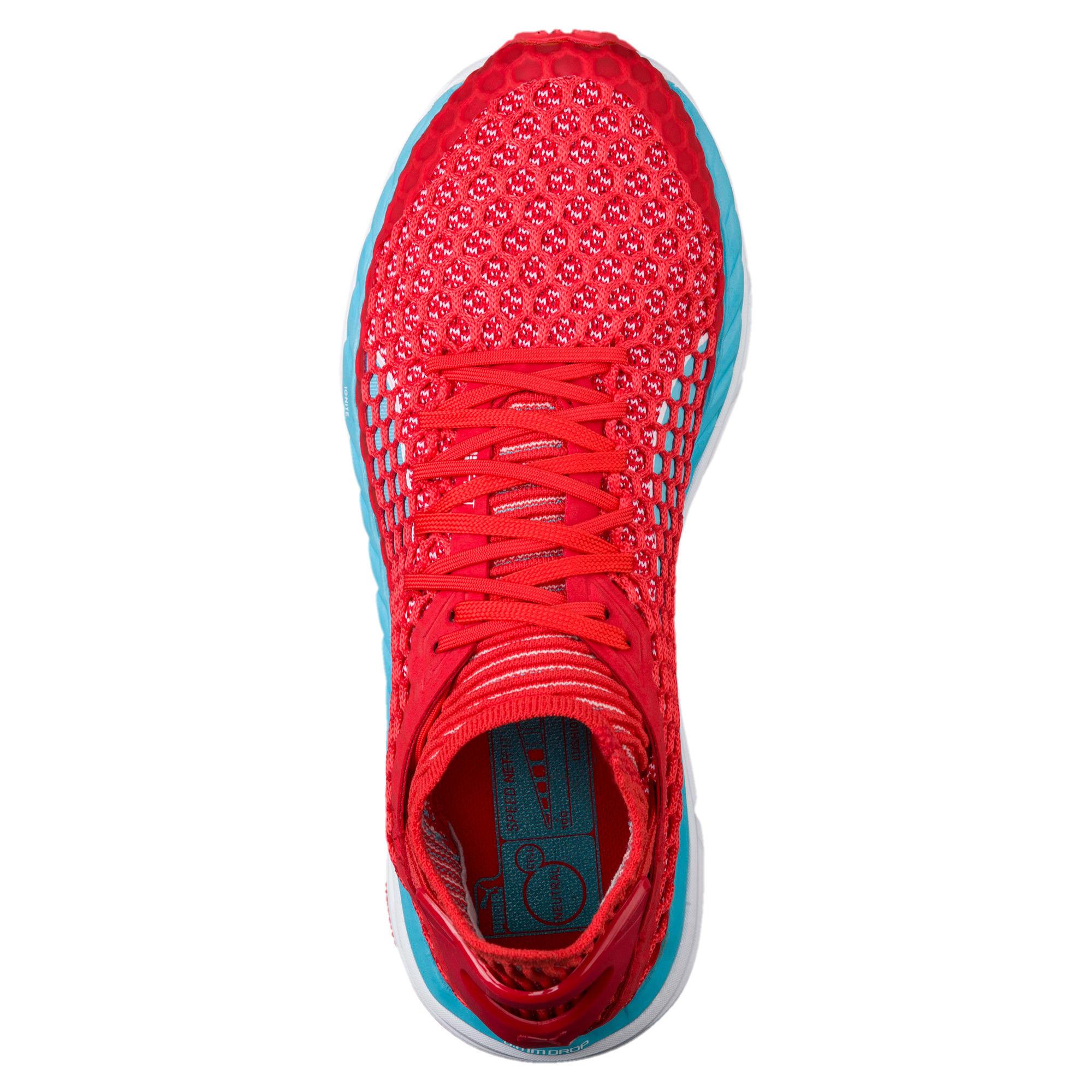 Thumbnail 5 of SPEED IGNITE NETFIT Women's Running Shoes, Poppy Red-Turquoise-White, medium