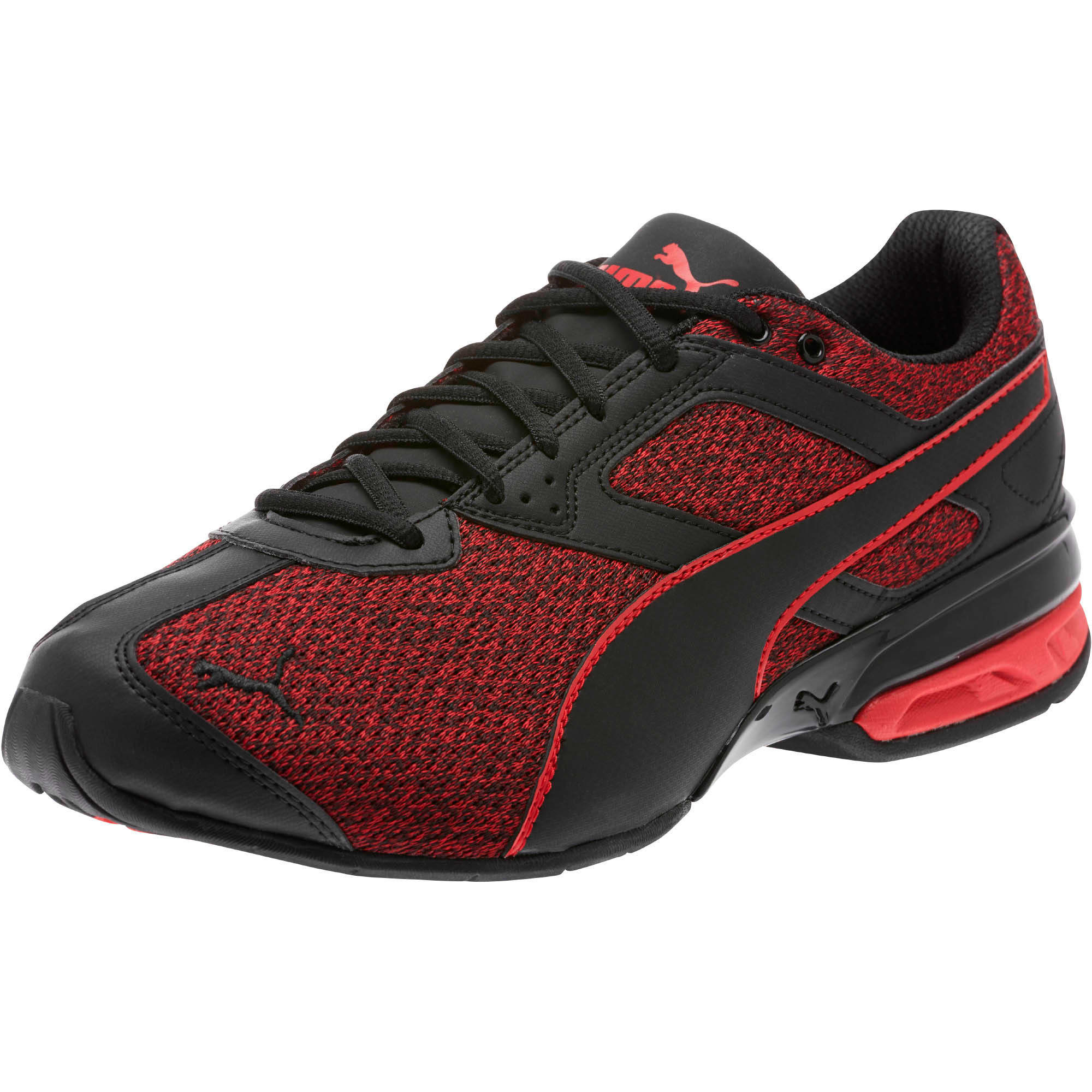 Thumbnail 1 of Tazon 6 Knit Men's Sneakers, Puma Black-Toreador, medium