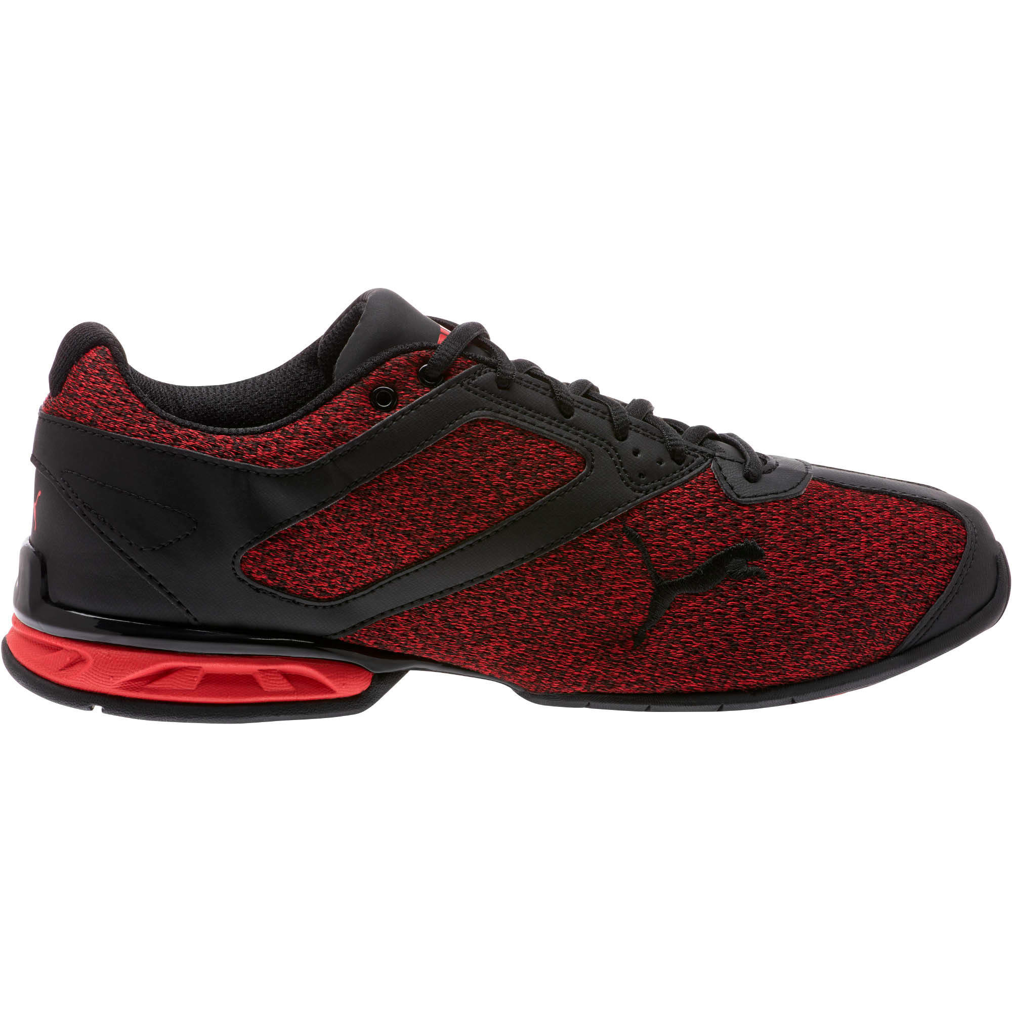 Thumbnail 3 of Tazon 6 Knit Men's Sneakers, Puma Black-Toreador, medium