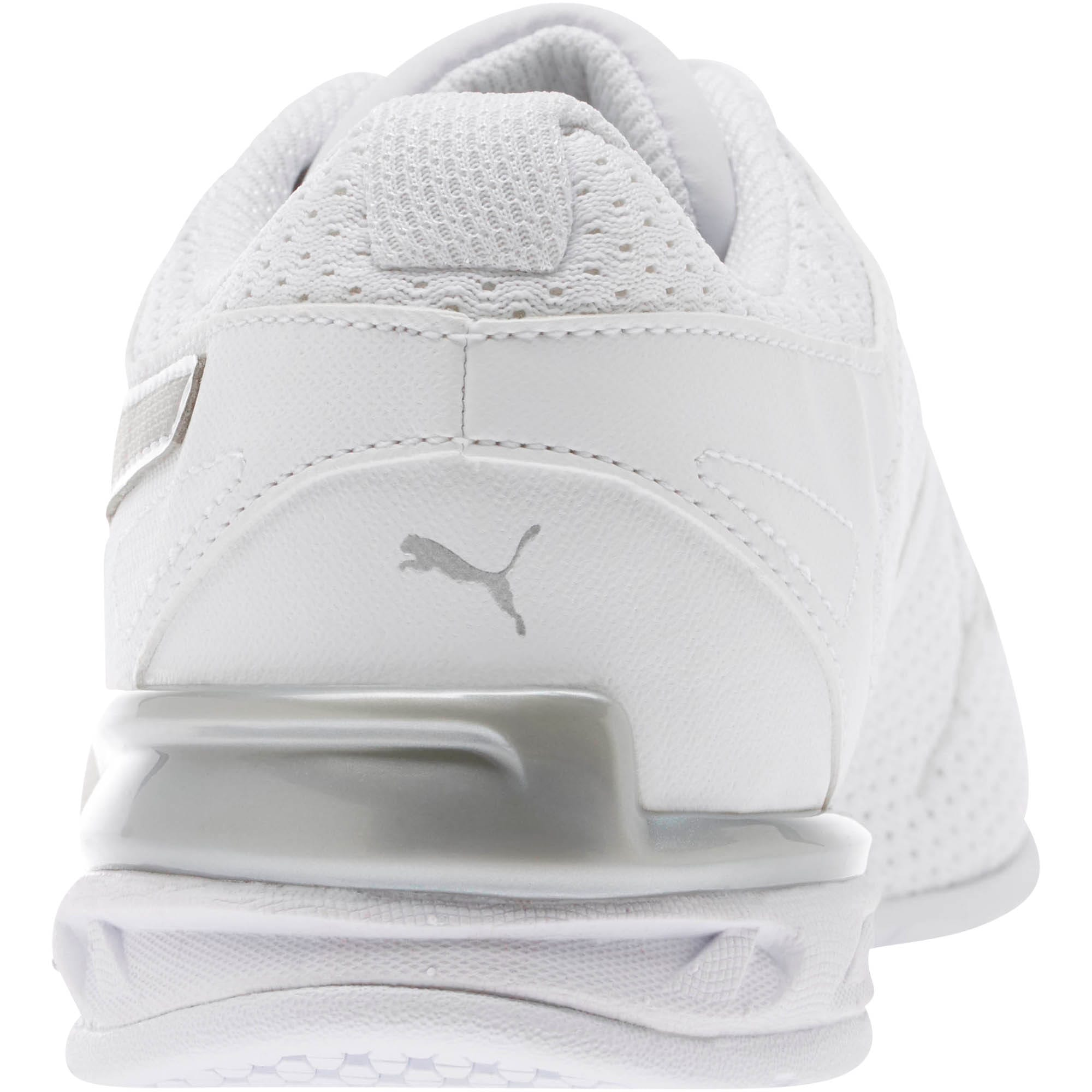 Thumbnail 4 of Tazon 6 Knit Women's Sneakers, Puma White-Puma Silver, medium