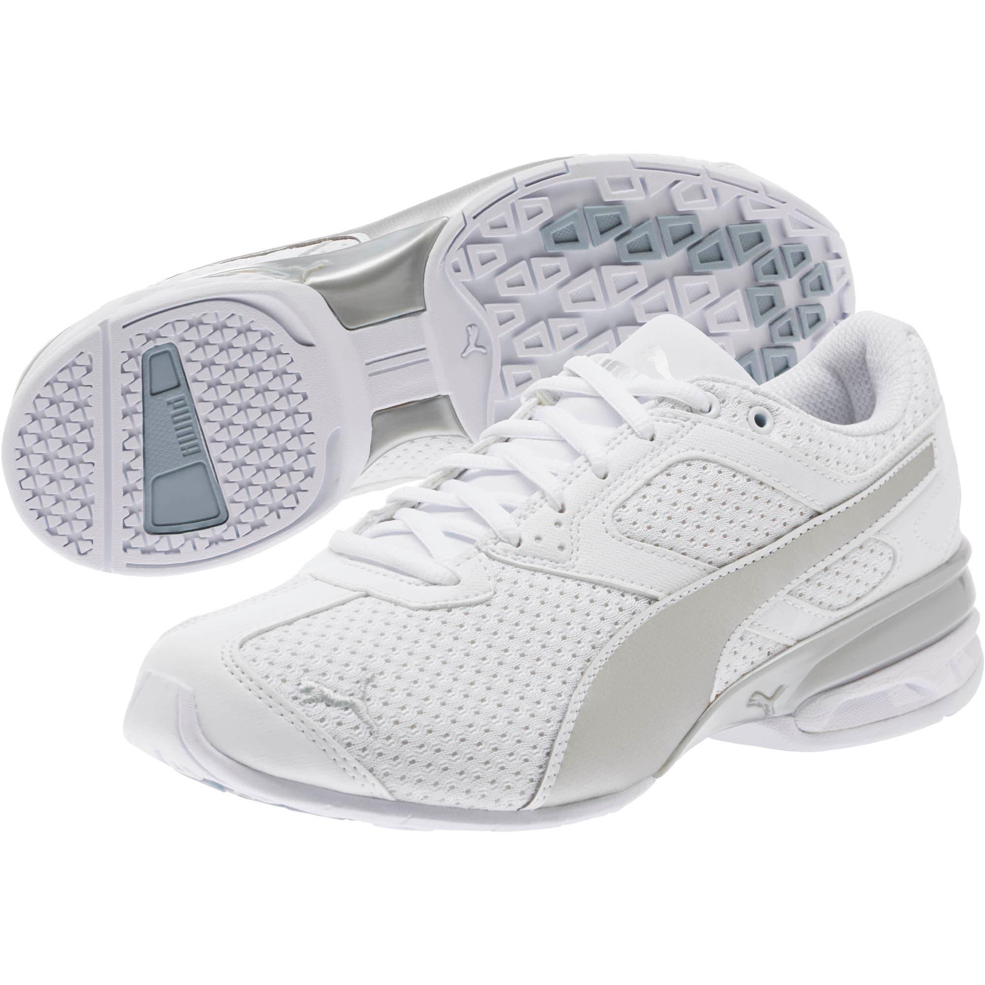 Thumbnail 2 of Tazon 6 Knit Women's Sneakers, Puma White-Puma Silver, medium