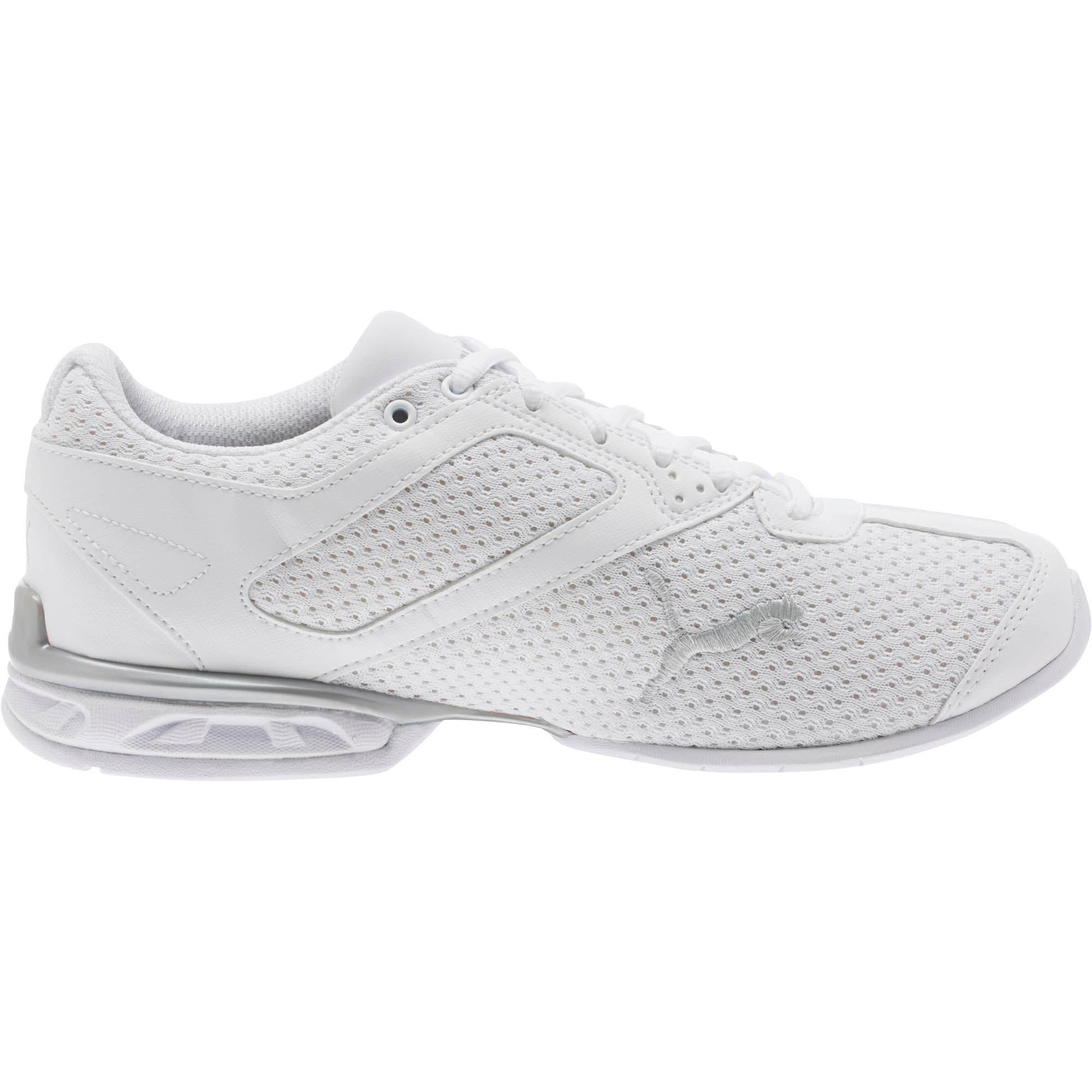 Thumbnail 3 of Tazon 6 Knit Women's Sneakers, Puma White-Puma Silver, medium