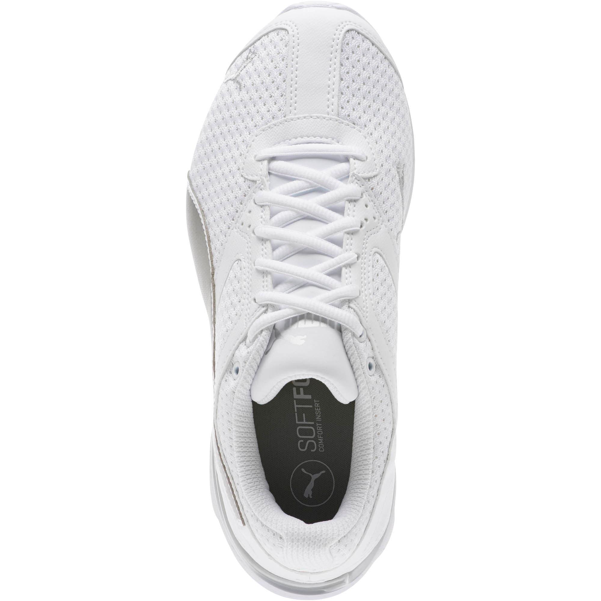 Thumbnail 5 of Tazon 6 Knit Women's Sneakers, Puma White-Puma Silver, medium