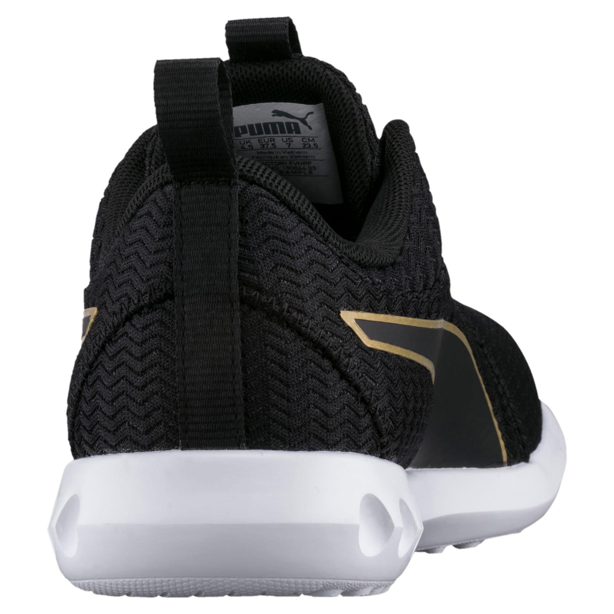 Thumbnail 4 of Carson 2 Metallic Women's Running Shoes, Puma Black-Gold, medium