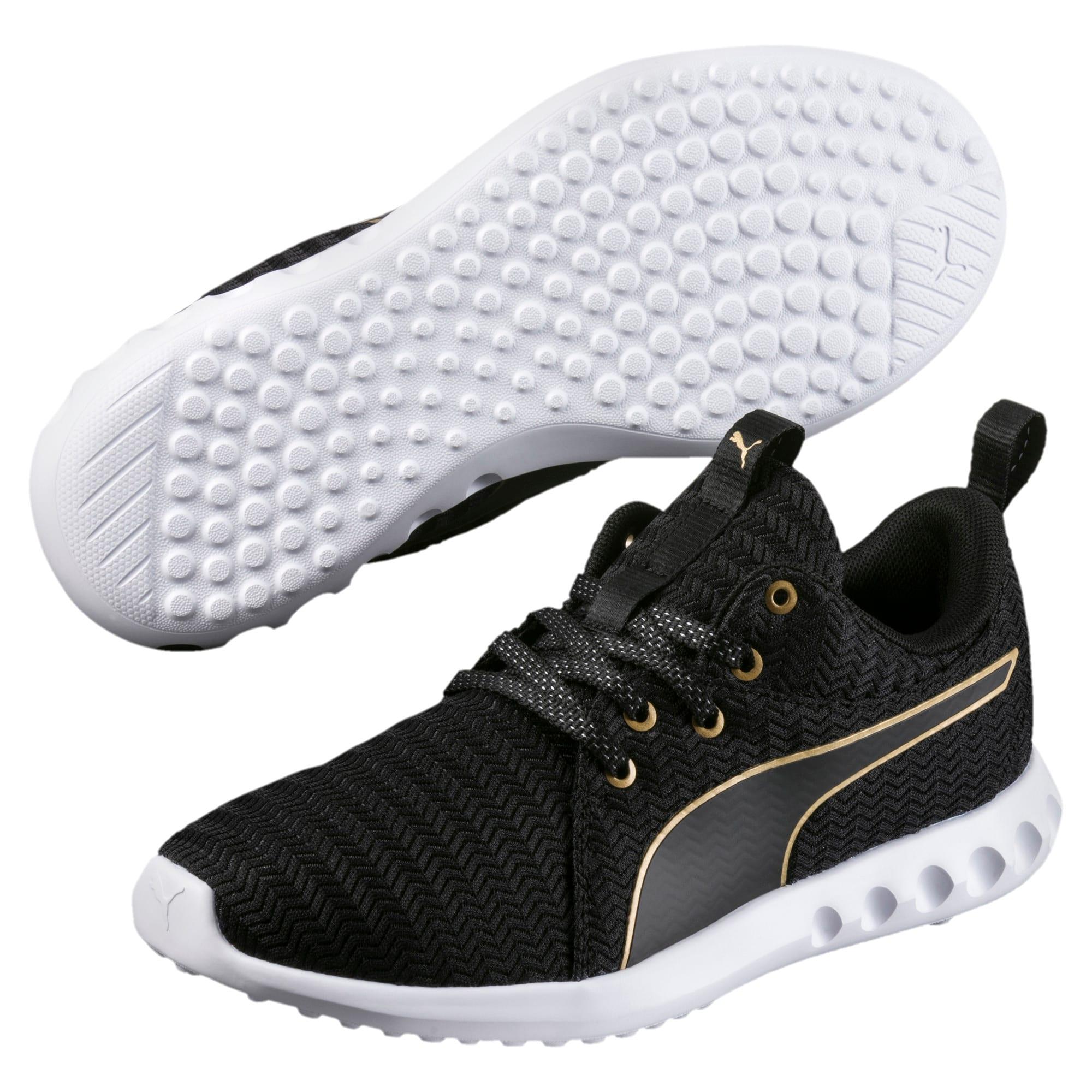 Thumbnail 2 of Carson 2 Metallic Women's Running Shoes, Puma Black-Gold, medium