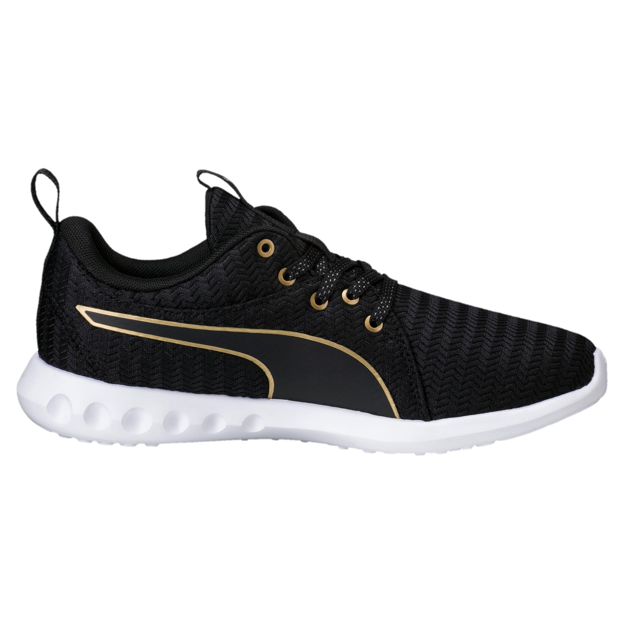 Thumbnail 3 of Carson 2 Metallic Women's Running Shoes, Puma Black-Gold, medium
