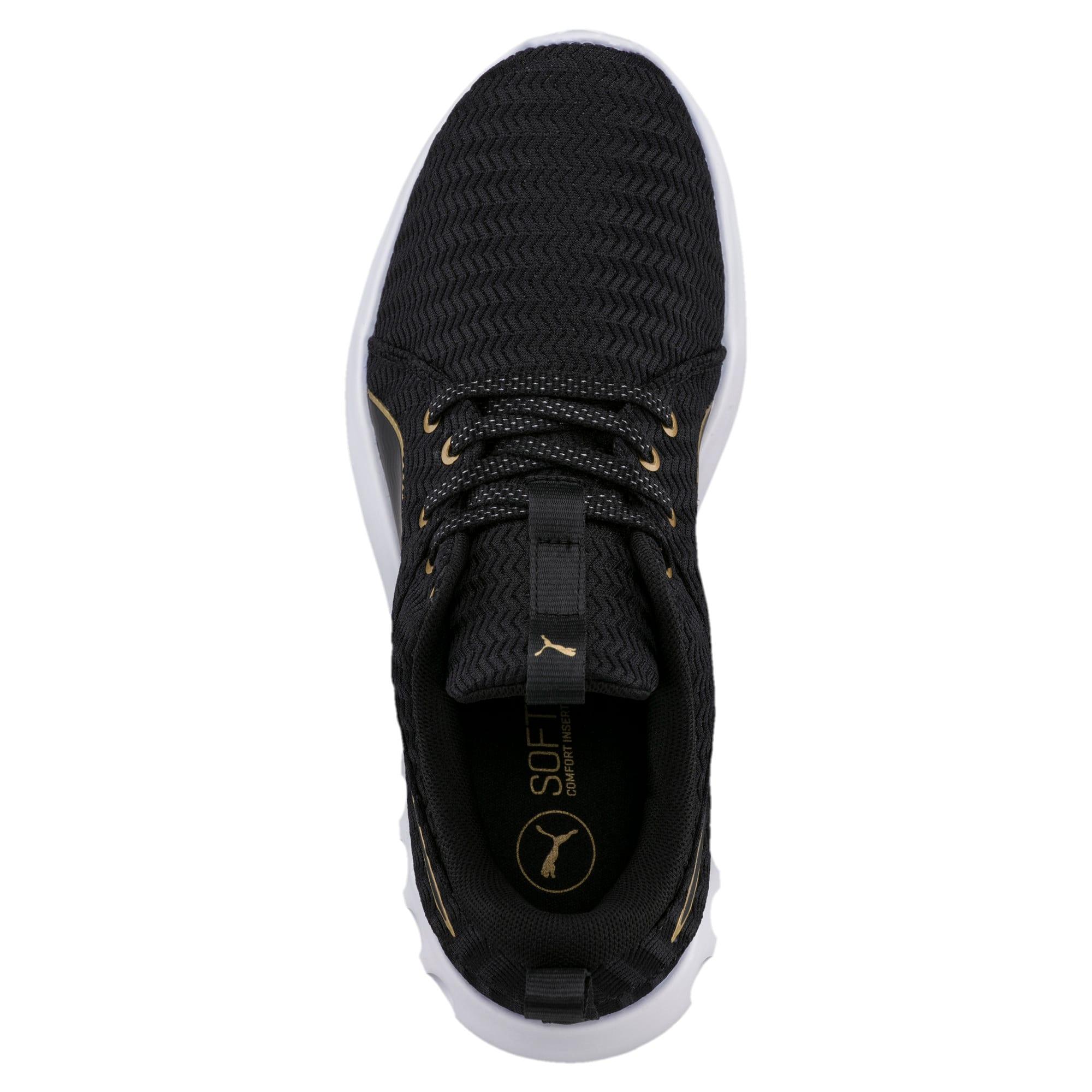 Thumbnail 5 of Carson 2 Metallic Women's Running Shoes, Puma Black-Gold, medium