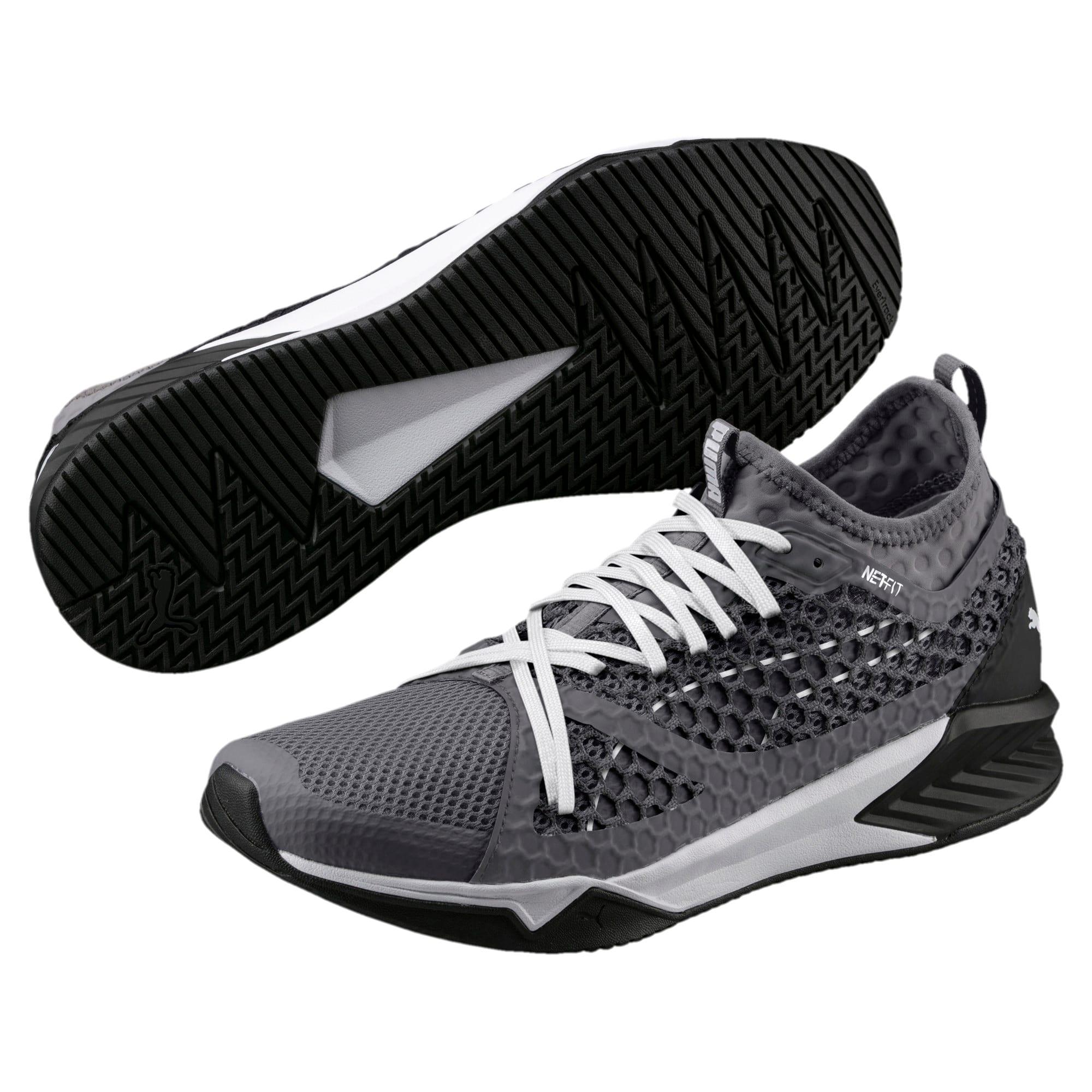 Thumbnail 2 of IGNITE XT NETFIT Men's Training Shoes, QUIET SHADE-Puma Black, medium-IND