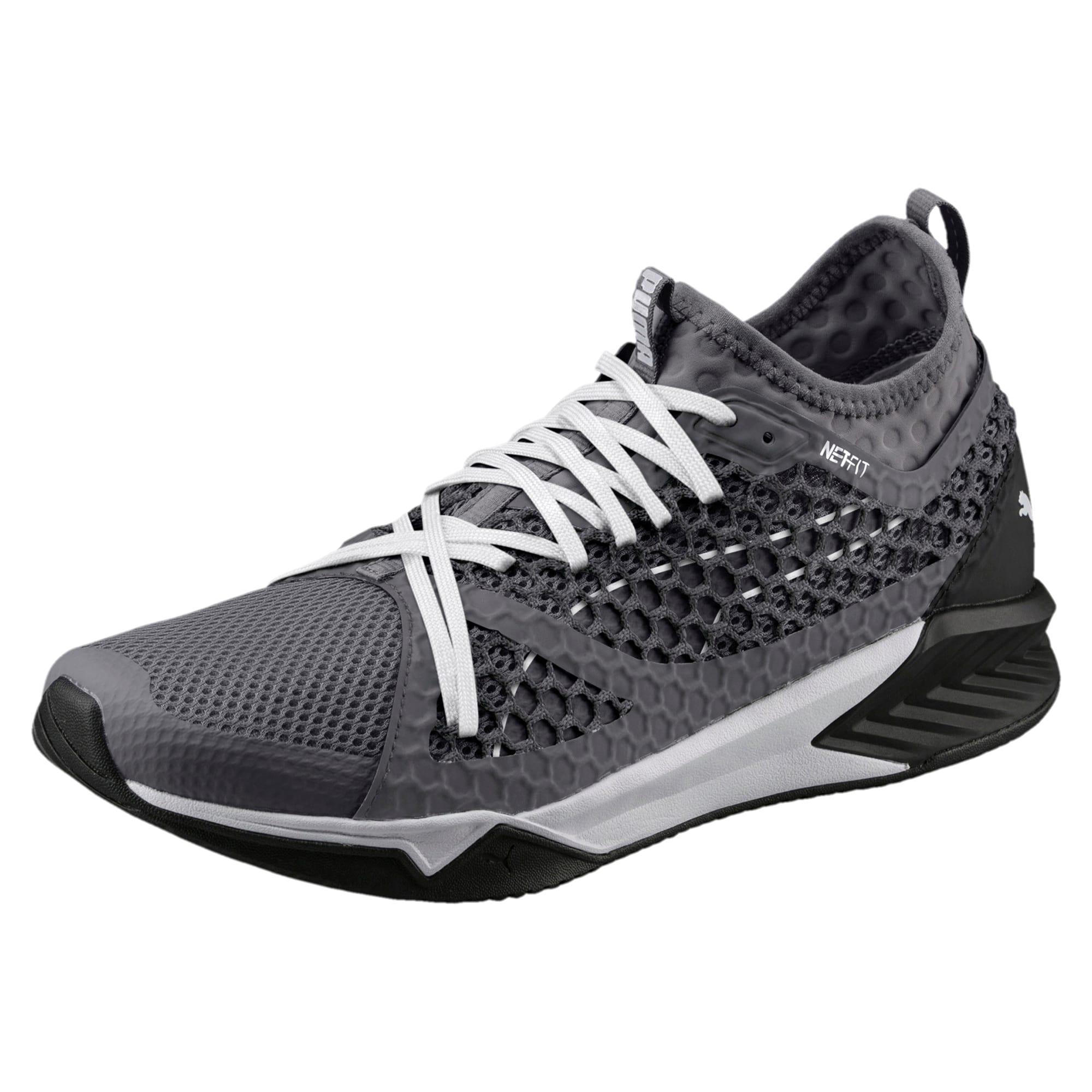 Thumbnail 1 of IGNITE XT NETFIT Men's Training Shoes, QUIET SHADE-Puma Black, medium-IND