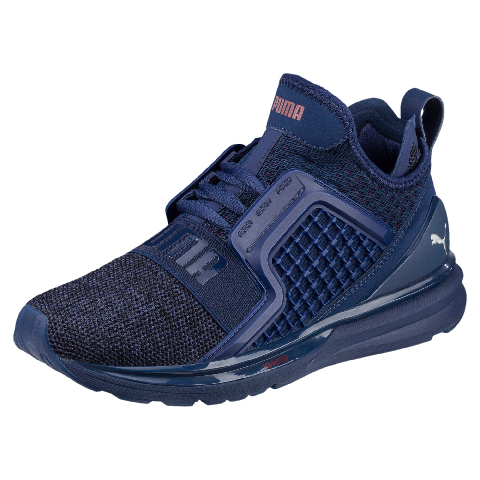 Thumbnail 1 of IGNITE Limitless Knit Kids' Trainers, Blue Depths-Toreador, medium-IND